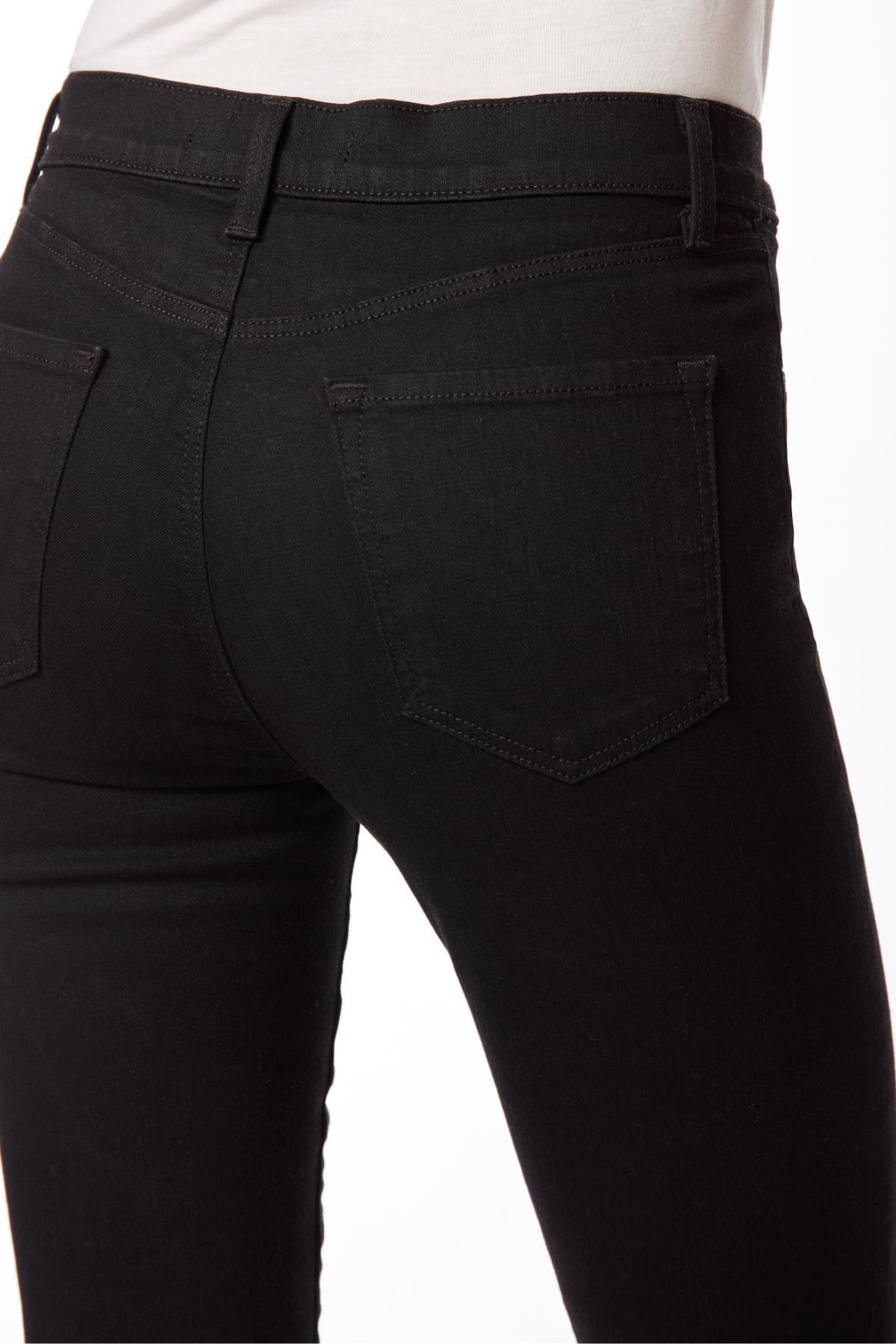 831d02e2b468 J Brand - Black 23127 Photo Ready Alana High-rise Super Skinny Crop In  Vanity. View fullscreen