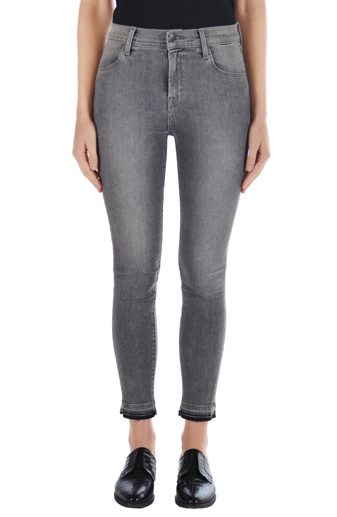 92fa1a121e3d J Brand Alana High-rise Cropped Super Skinny In Earl Grey in Gray - Lyst