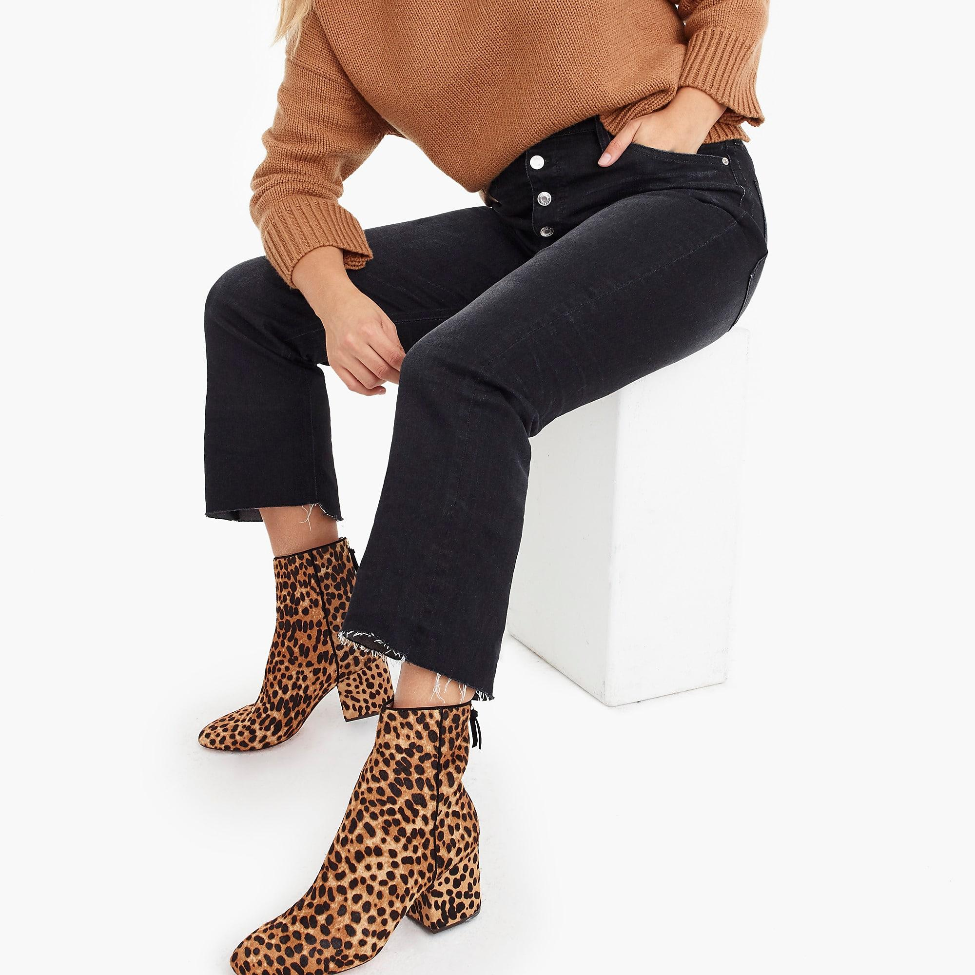 b0e29a56efdfc J.Crew Sadie Ankle Boots In Leopard Calf Hair in Brown - Lyst