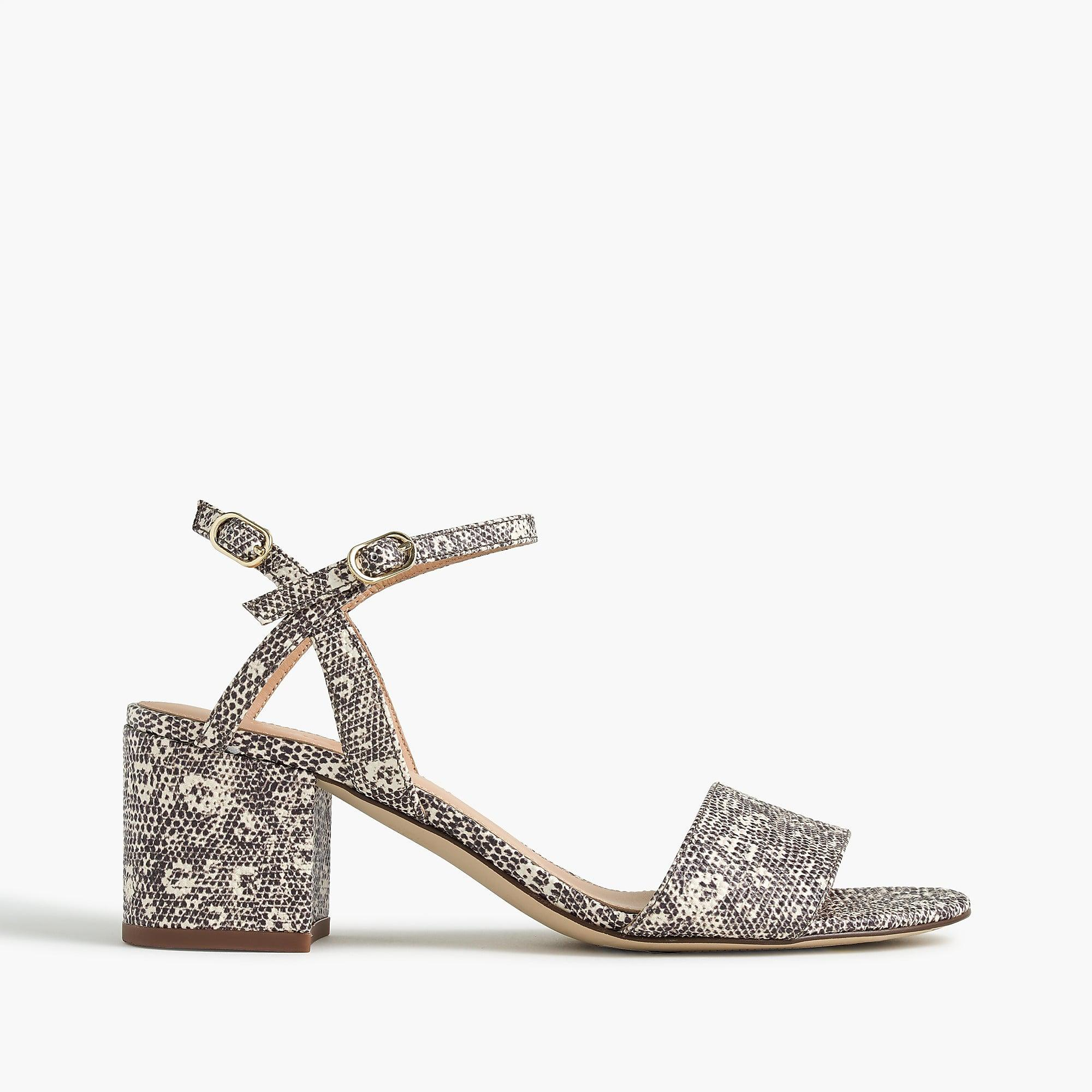 Strappy block-heel sandals (60mm) in lizard-stamped leather Cheapest online Dh4Qzy0O
