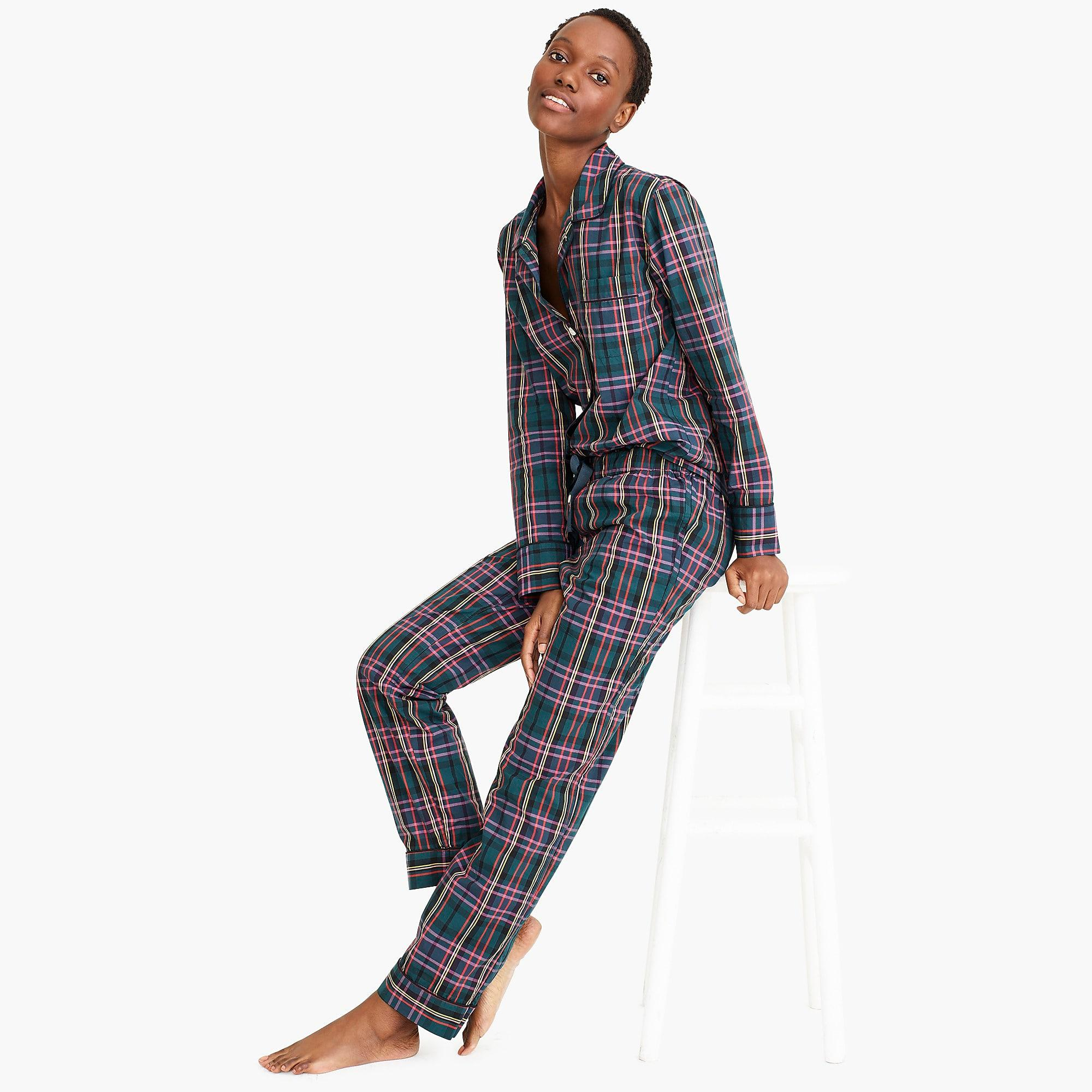 ed2ea16b4d J.Crew Vintage Pajama Set In Signature Tartan in Blue - Lyst