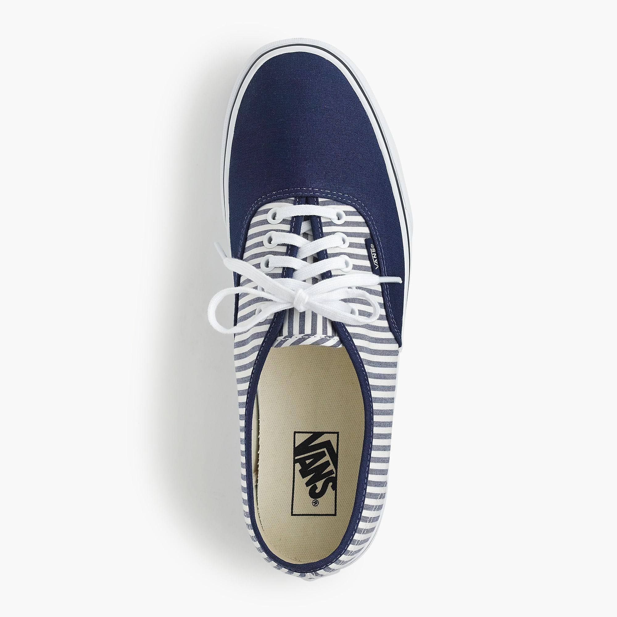 d67f867a44540c Vans - Blue Authentic Sneakers In Seersucker Stripe for Men - Lyst. View  fullscreen