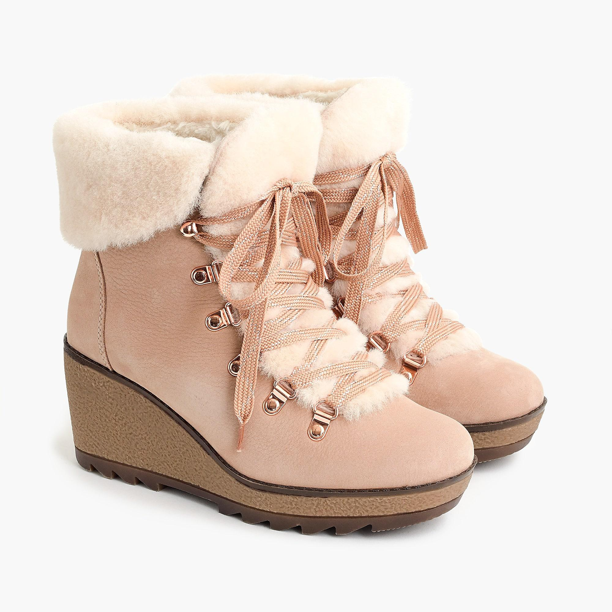 9462d472dc6 J.Crew Nordic Wedge Boots in Pink - Lyst