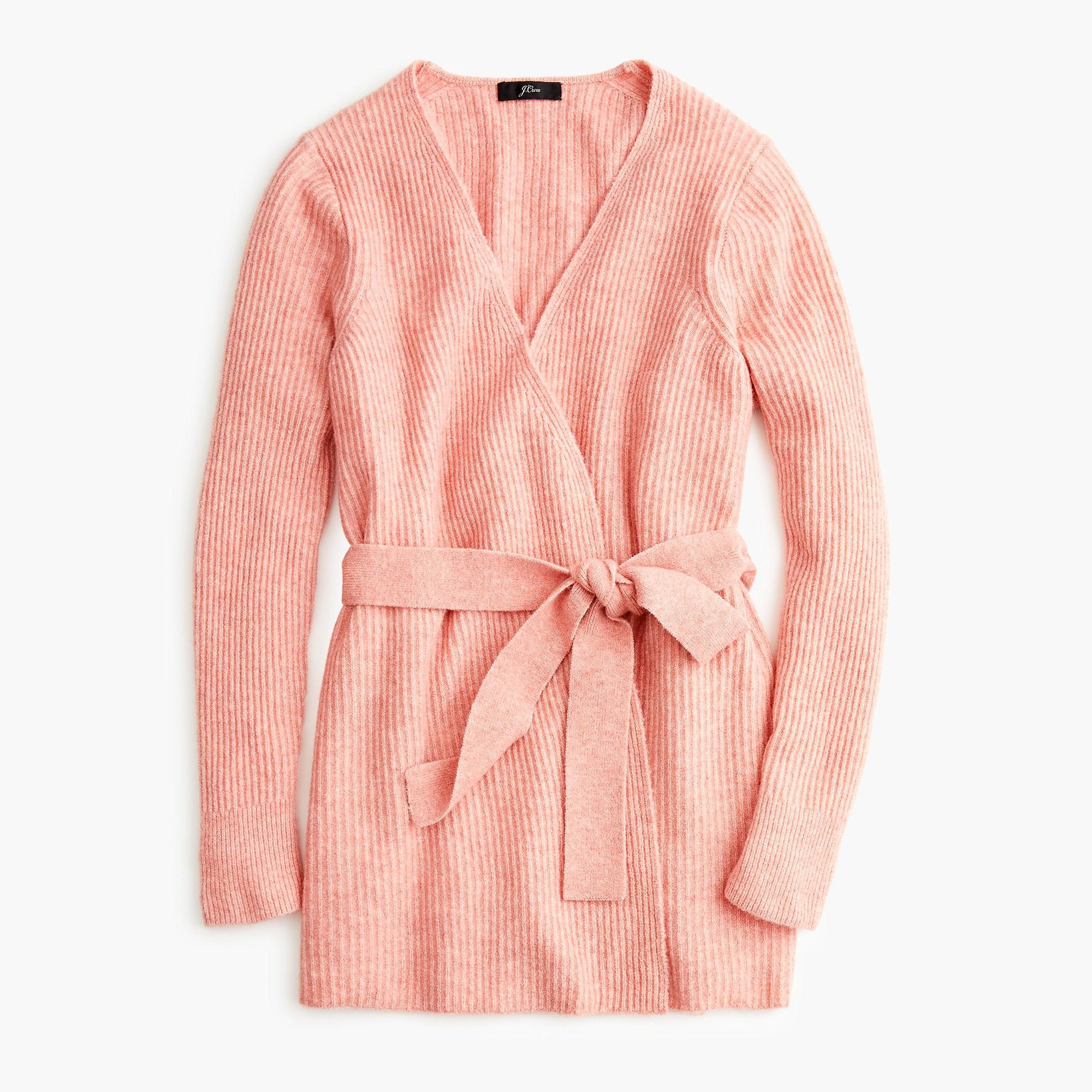 b07499feaa2 J.Crew Wrap Cardigan In Supersoft Yarn in Pink - Lyst