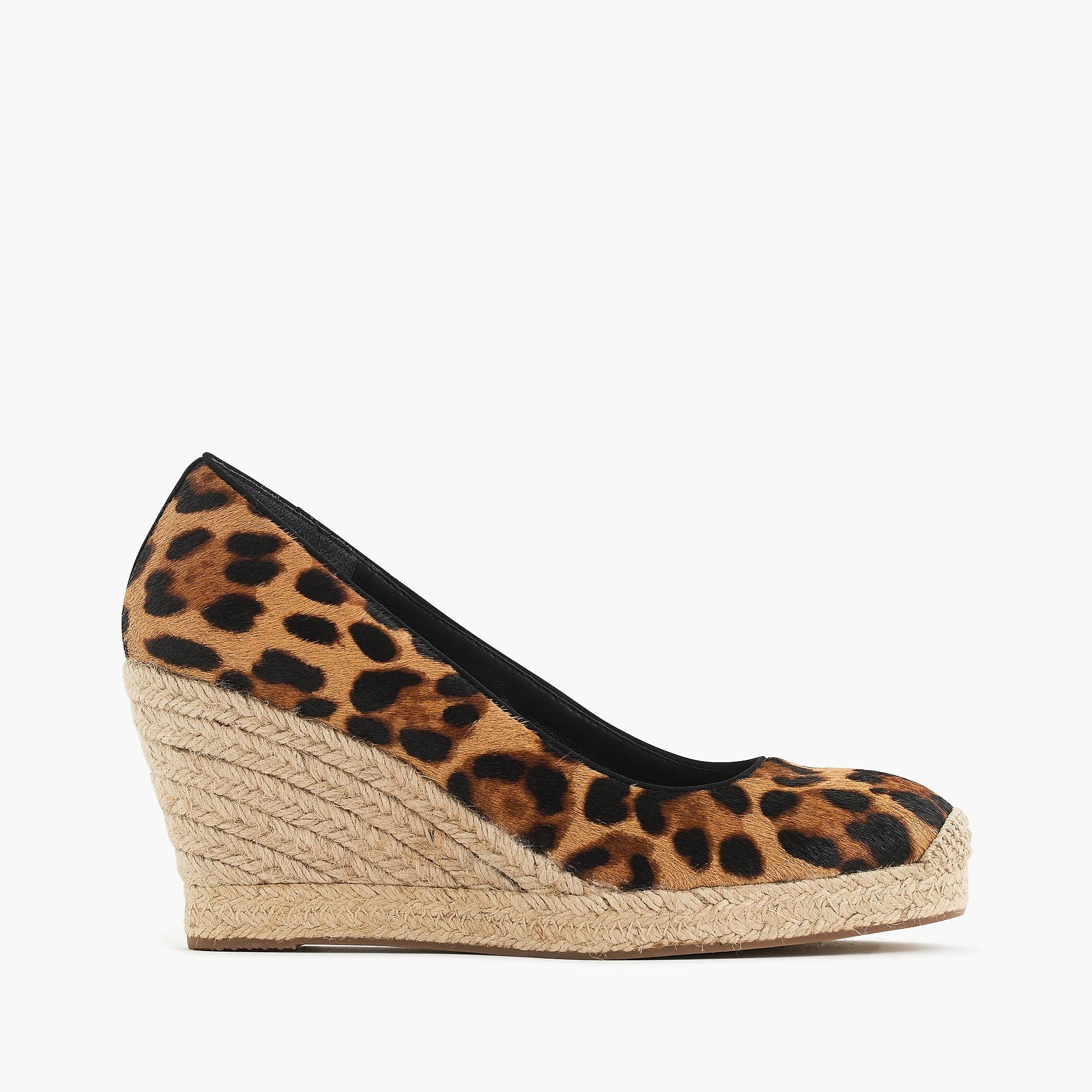 ccb592a79ea J.Crew Seville Espadrille Wedges In Leopard Calf Hair in Brown - Lyst