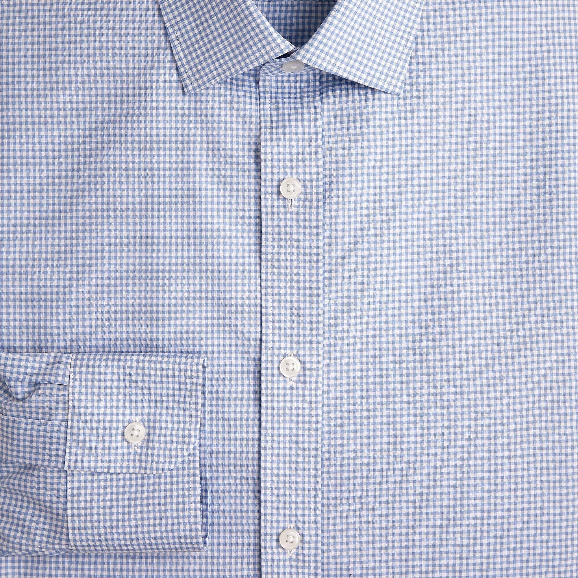 e736e91a16c0 J.Crew. Men's Blue Slim Ludlow Stretch Two-ply Easy-care Cotton Dress Shirt  ...