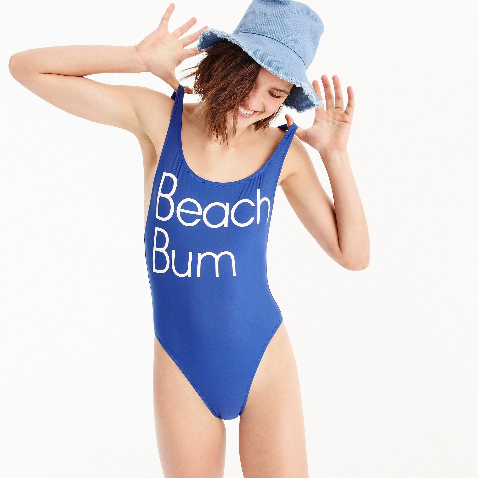 ee7c1b3dcf J.Crew Beach Bum Plunging Scoop Back One-piece Swimsuit in Blue - Lyst