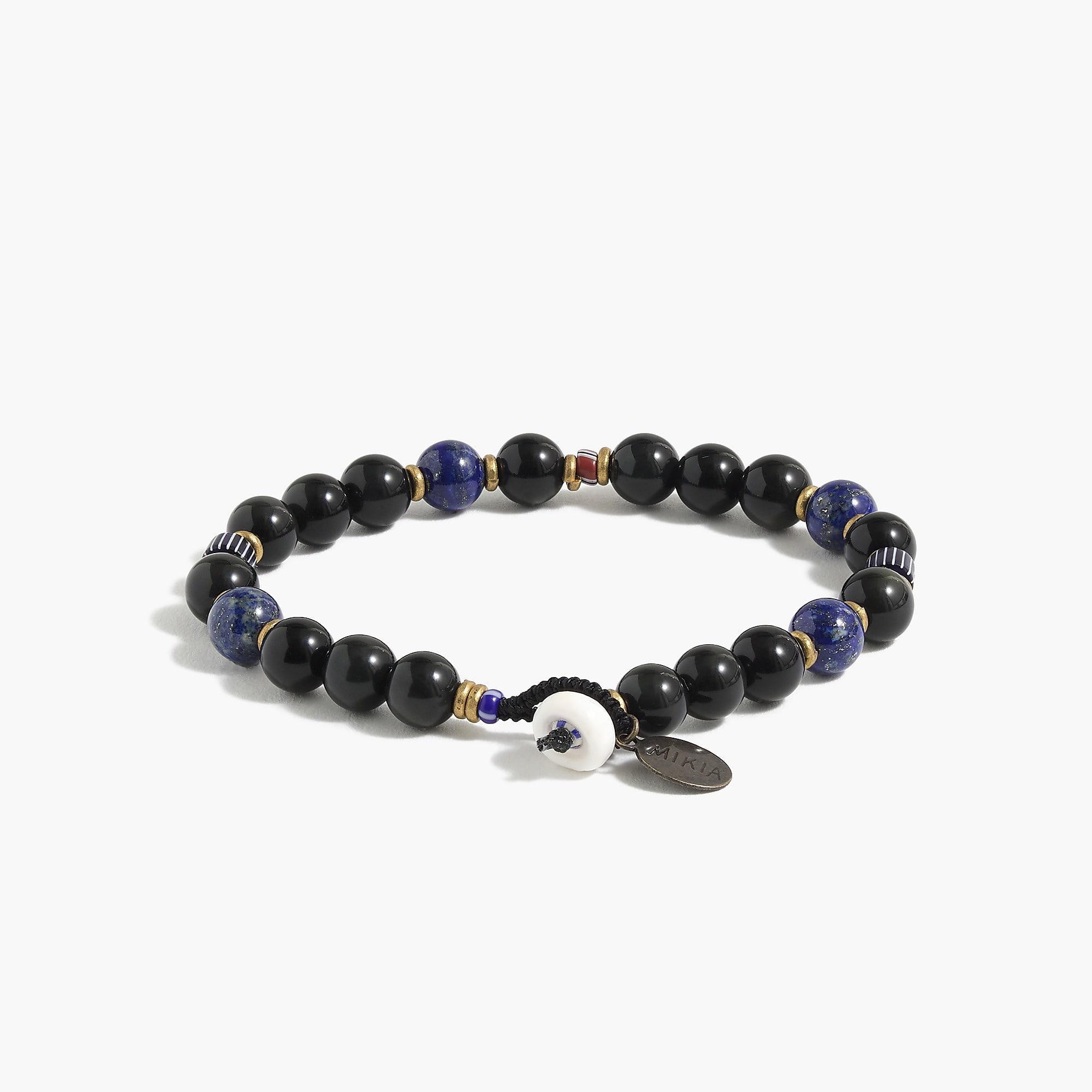 Mikia Rainbow Obsidian Bracelet - Black r4aSAzVuJv