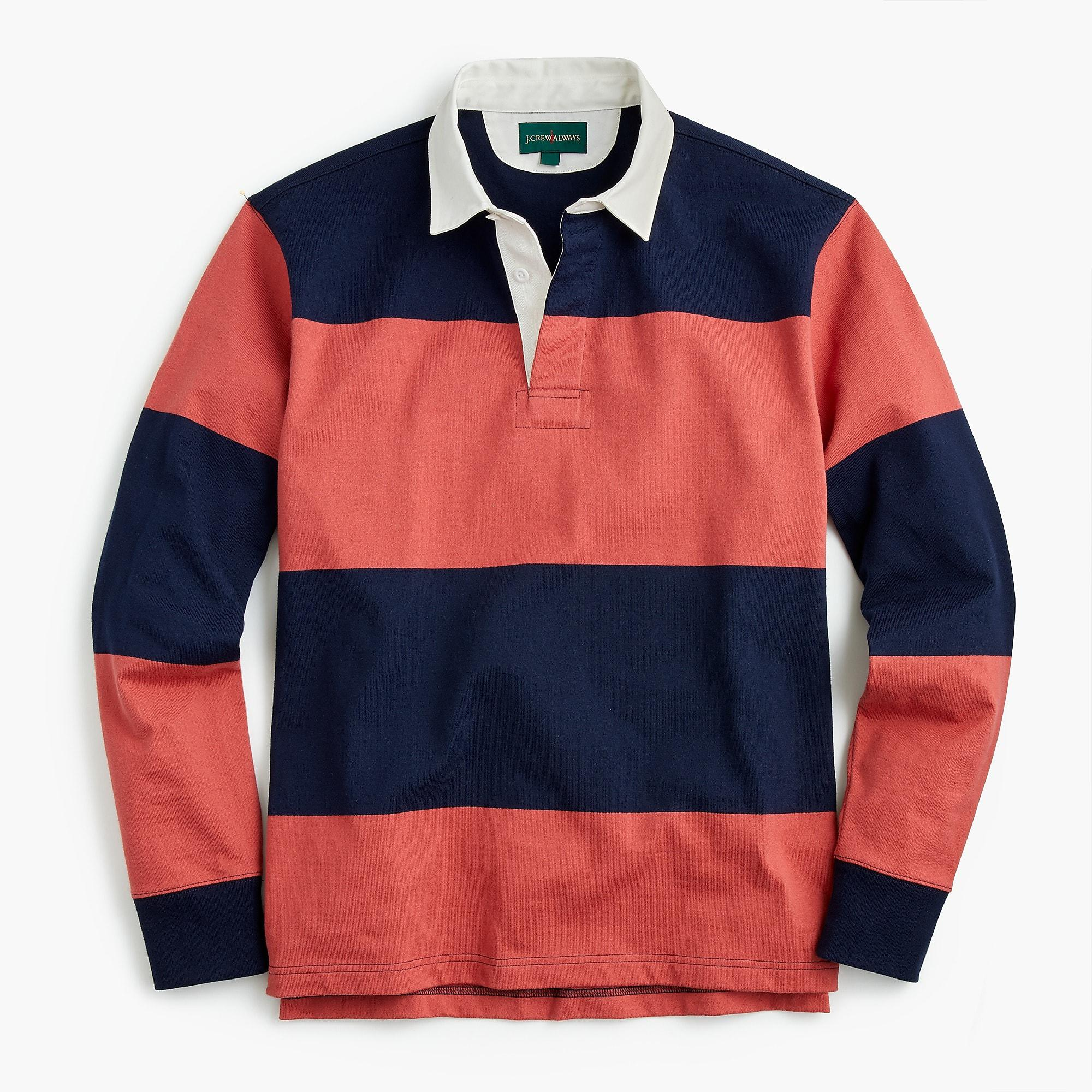 21830814139 J.Crew 1984 Rugby Shirt In Broad Stripe in Red for Men - Lyst