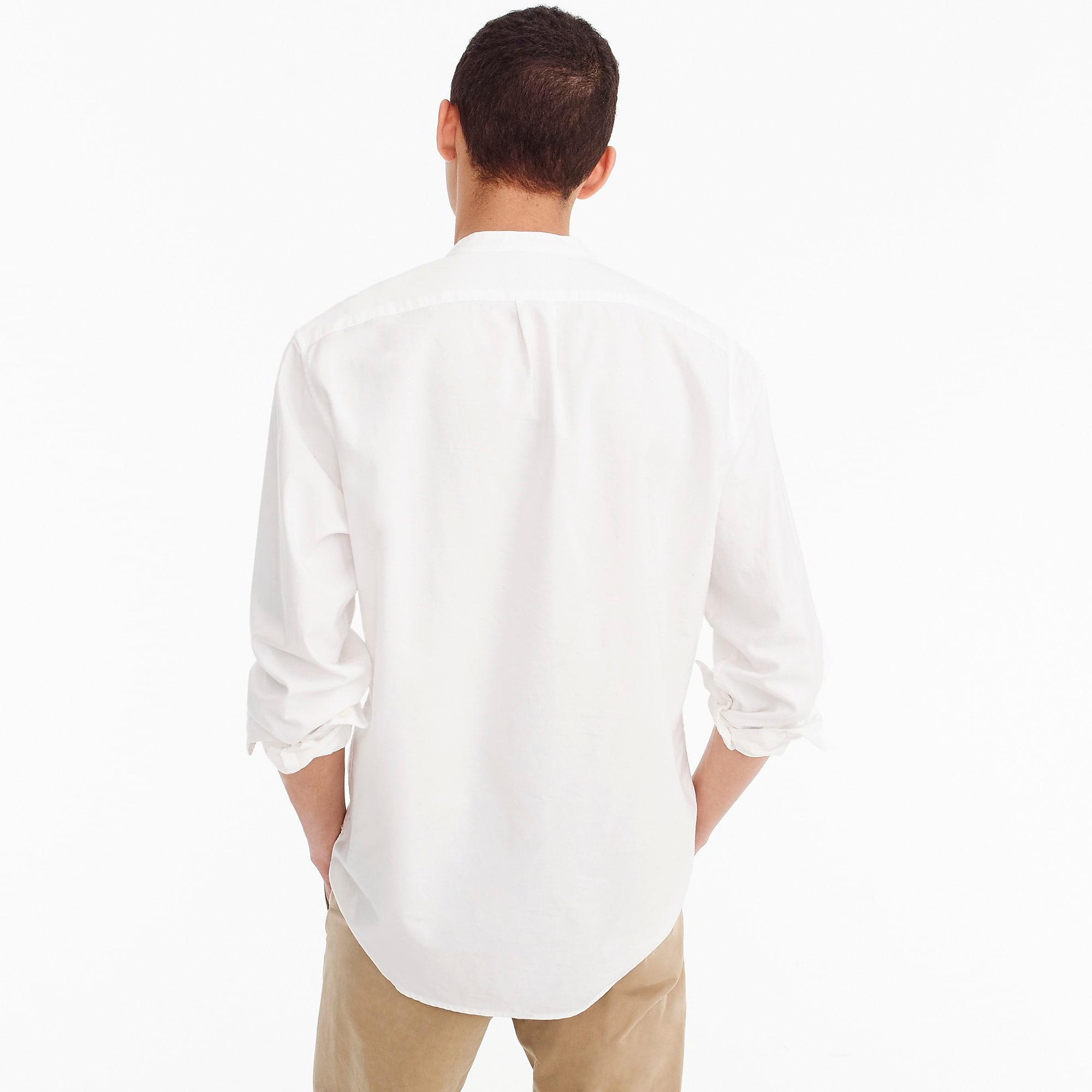 ee5df5d3c0739 J.Crew - White Band-collar American Pima Cotton Oxford With Mechanical  Stretch for. View fullscreen