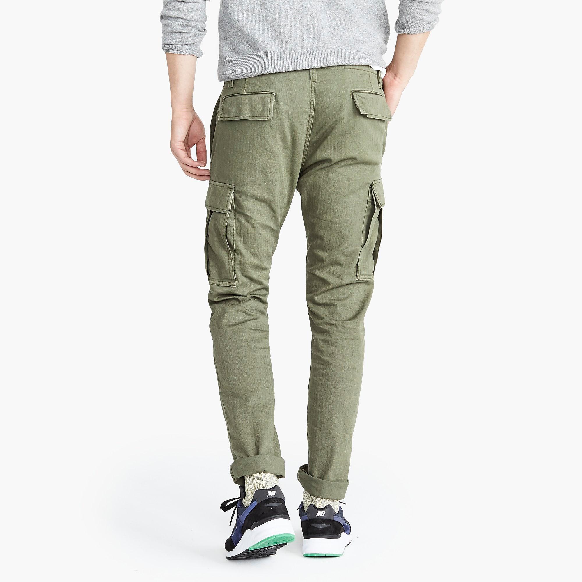 8417497fbb J.Crew Slim Fit Cargo Trousers in Green for Men - Lyst
