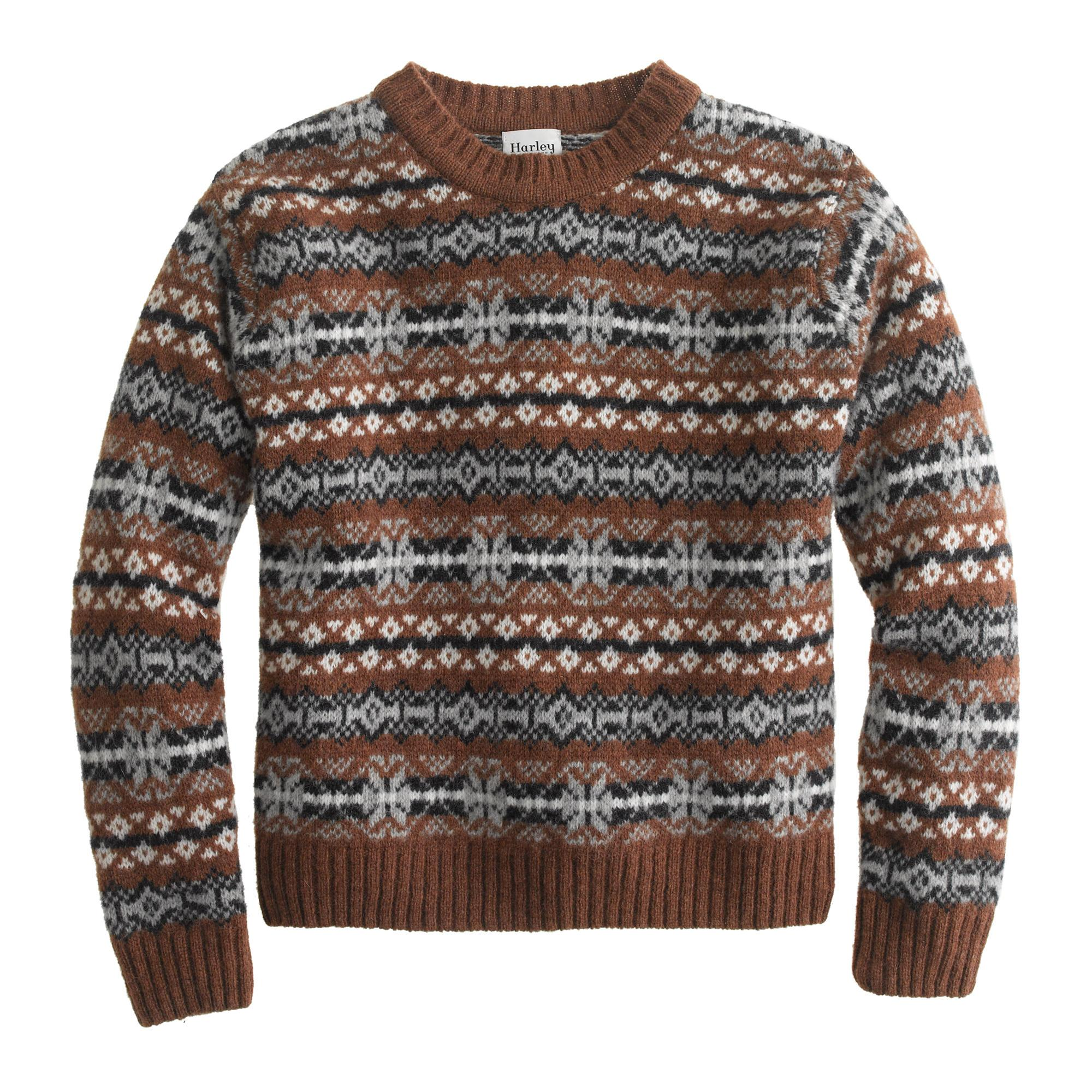 dbc1d6d38 J.Crew Harley Of Scotland Fair Isle Sweater in Gray for Men - Lyst