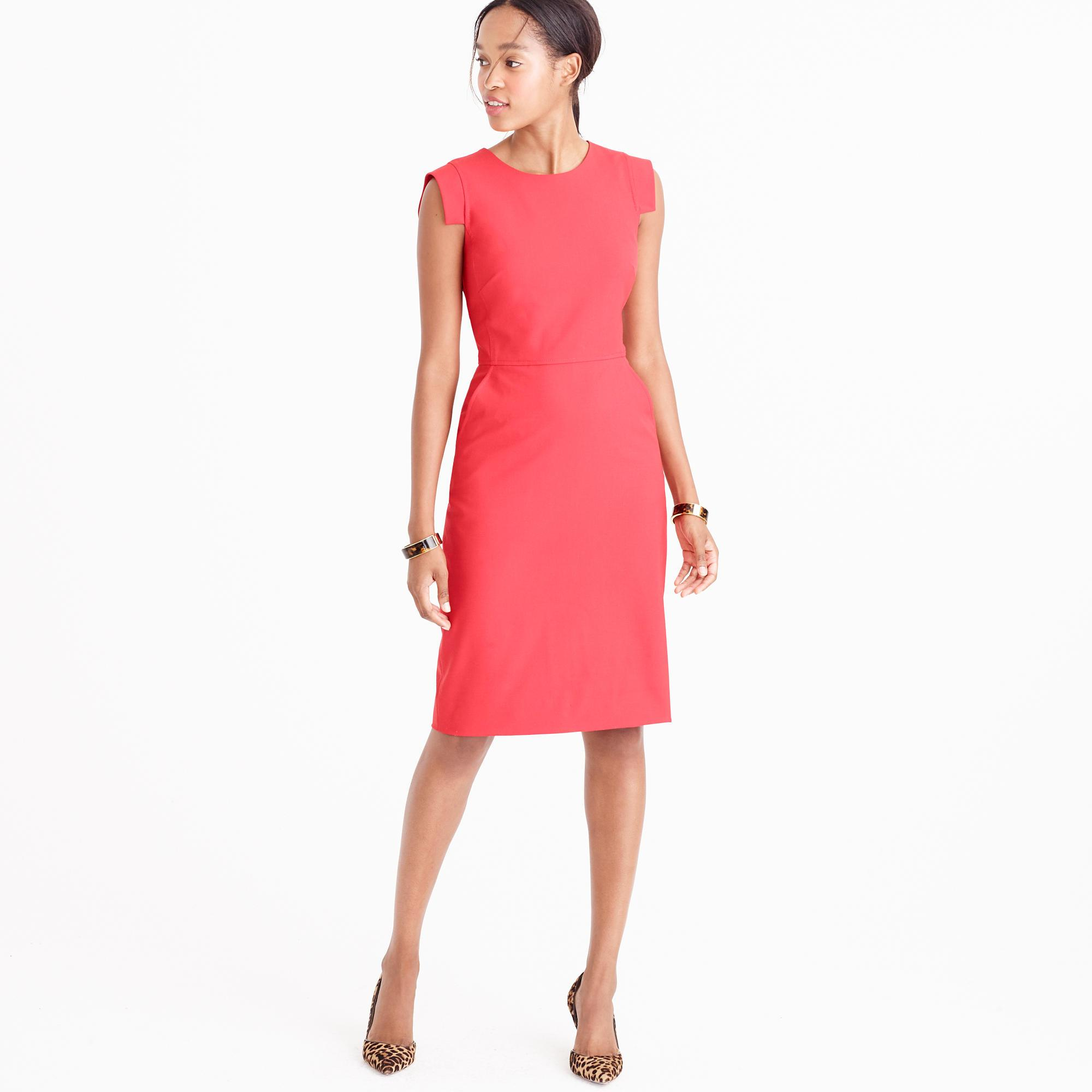 j crew r u00e9sum u00e9 dress in red