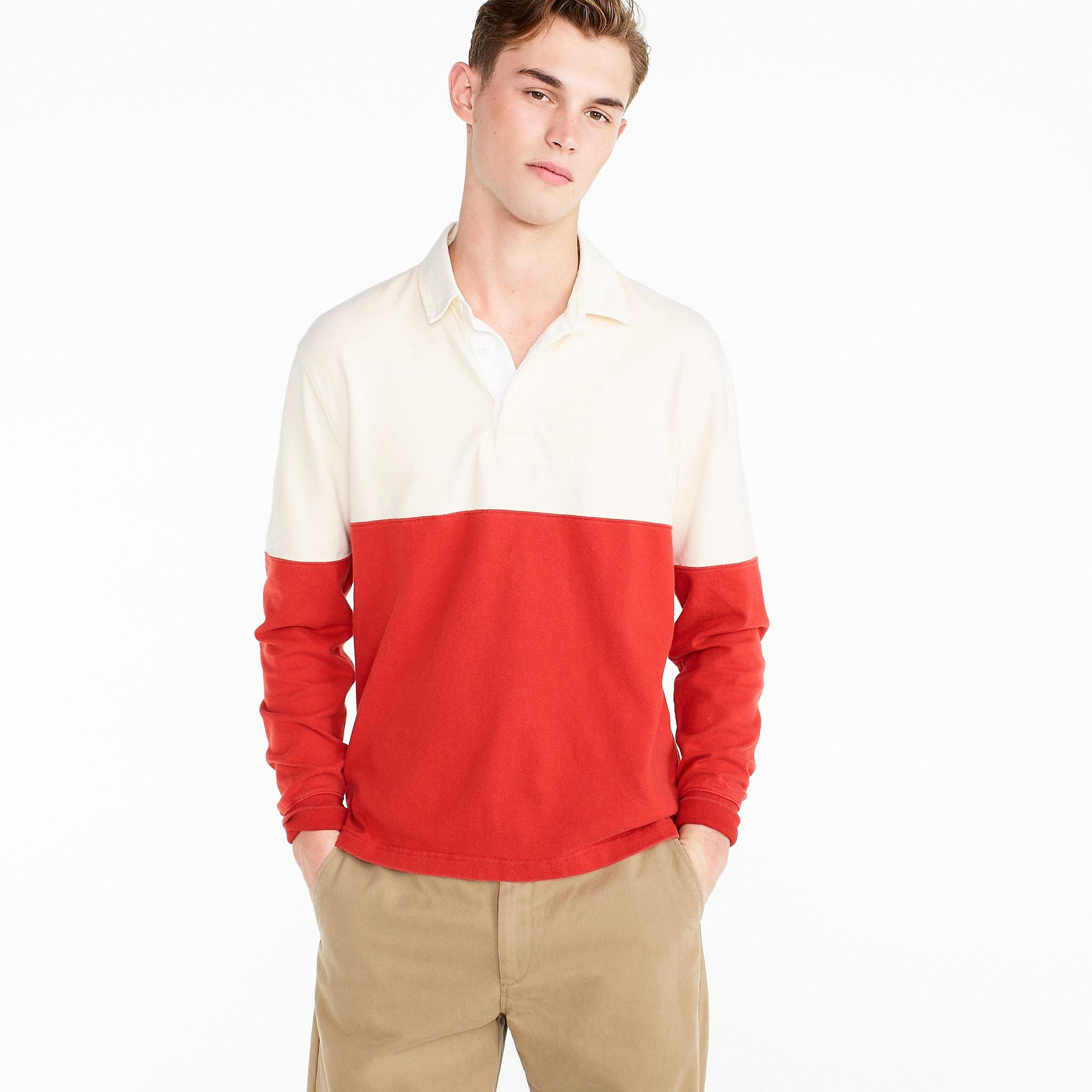 0d8a6093e90 J.Crew Unisex 1984 Rugby Shirt In Colorblock in Red for Men - Lyst