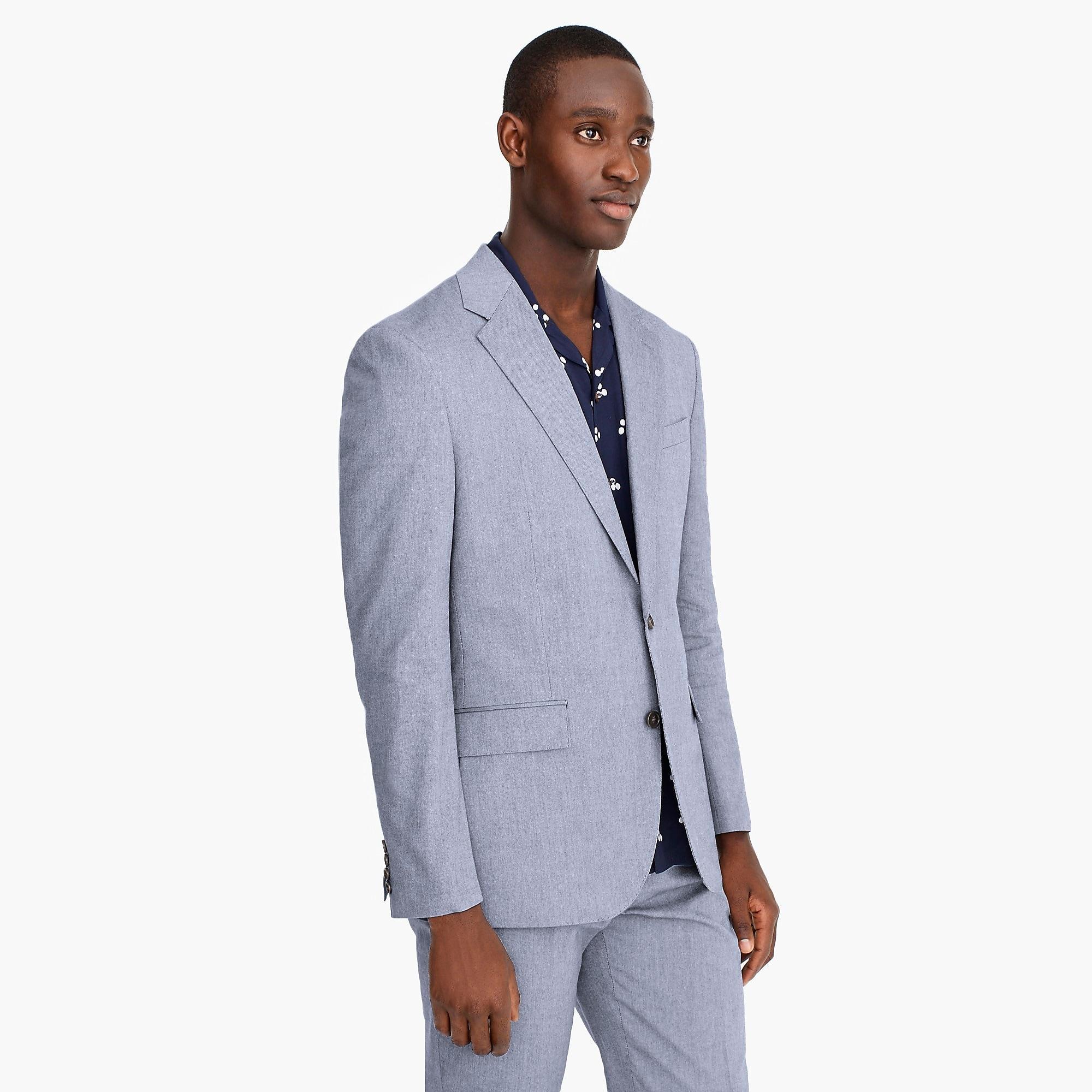 e19c44f482c4 ... Ludlow Classic-fit Suit Jacket In Union Blue Italian Cotton Oxford.  View fullscreen