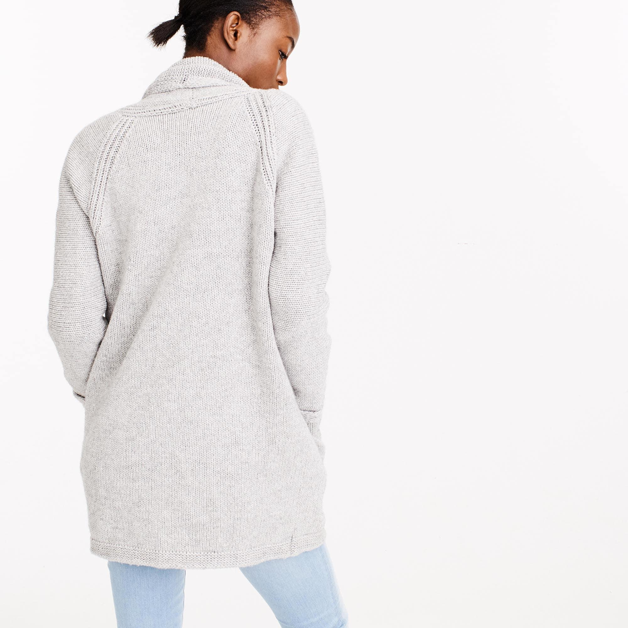 J.crew Long Open Cardigan Sweater | Lyst