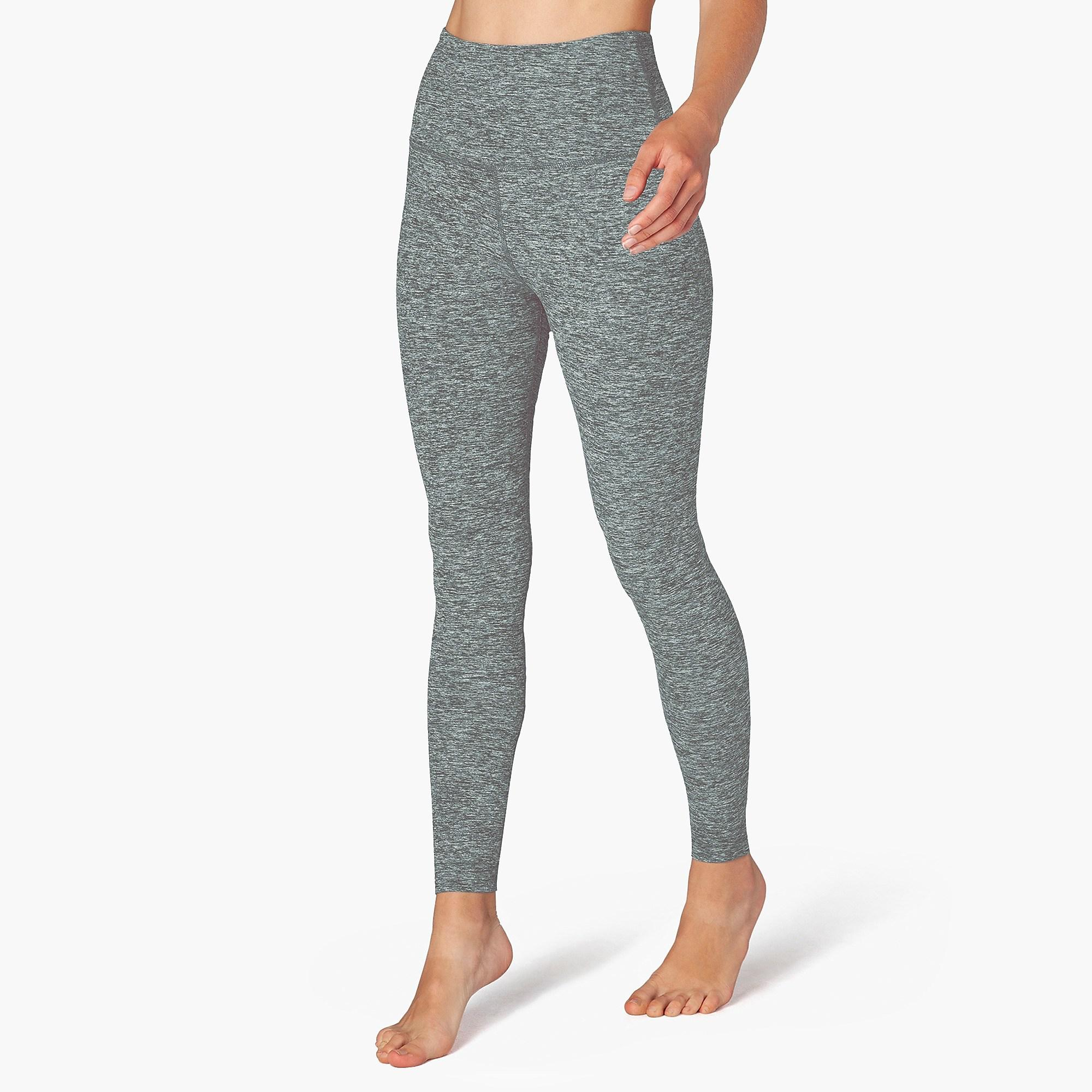 943c623d02 Beyond Yoga - Gray Spacedye Caught In The Midi High-waisted leggings -  Lyst. View fullscreen