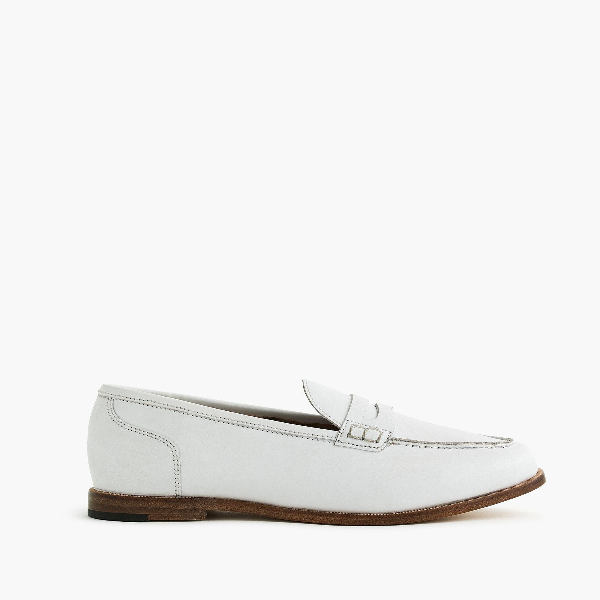 8740c9b4ce1 J.Crew. White Ryan Penny Loafers In Leather (burnished Pecan) Women s Shoes
