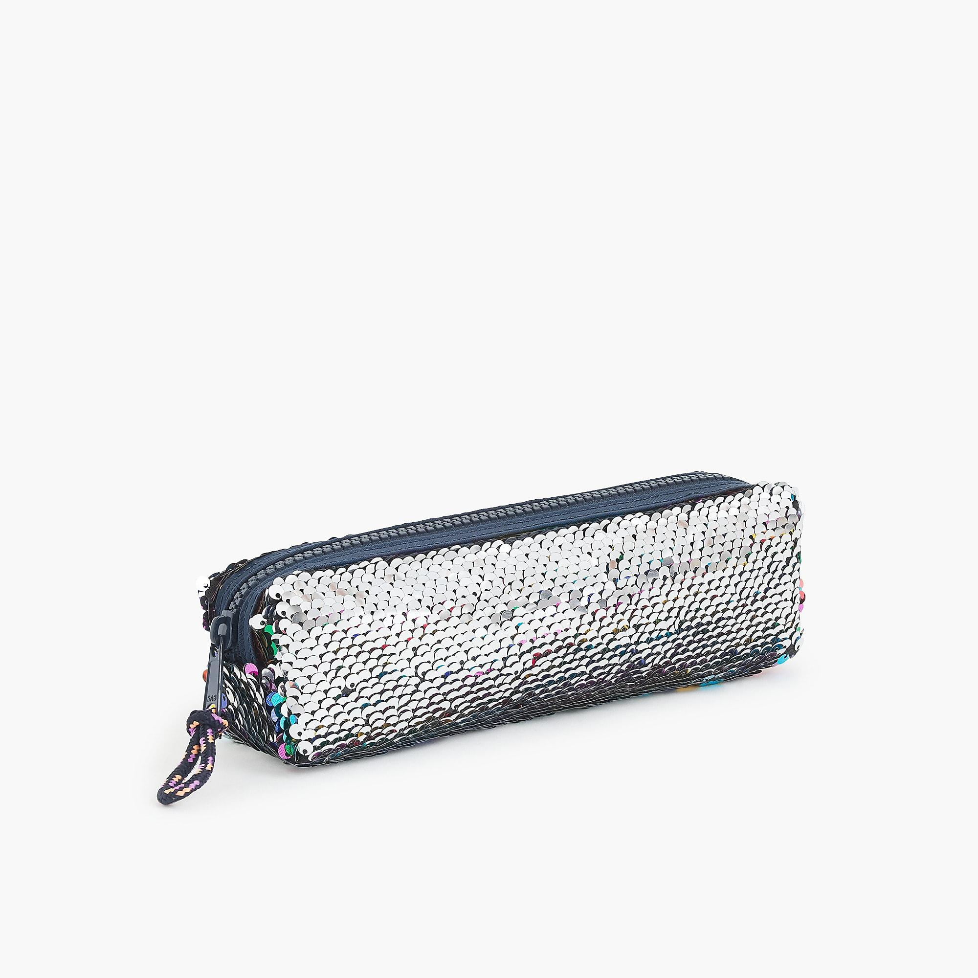 61683ff44 J.Crew Girls' Pencil Case In Reversible Sequins in Blue - Lyst