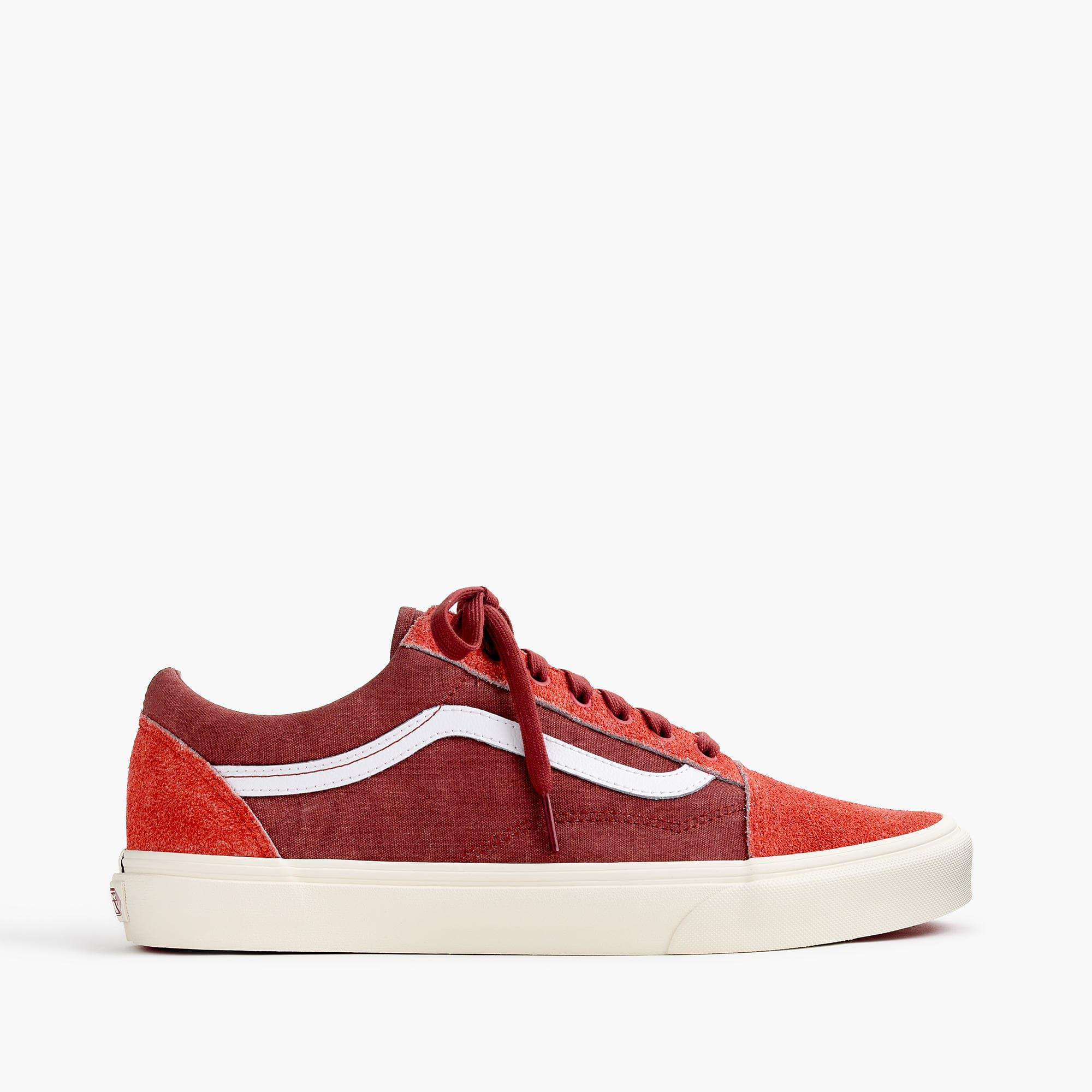 c9464cc24a77 Lyst - Vans Old Skool Sneakers In Washed Canvas in Red for Men