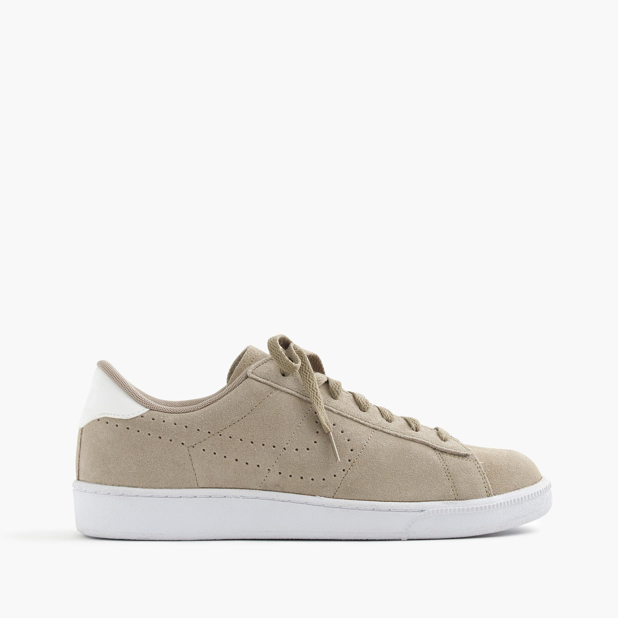 j crew nike tennis classic sneakers in suede in gray for