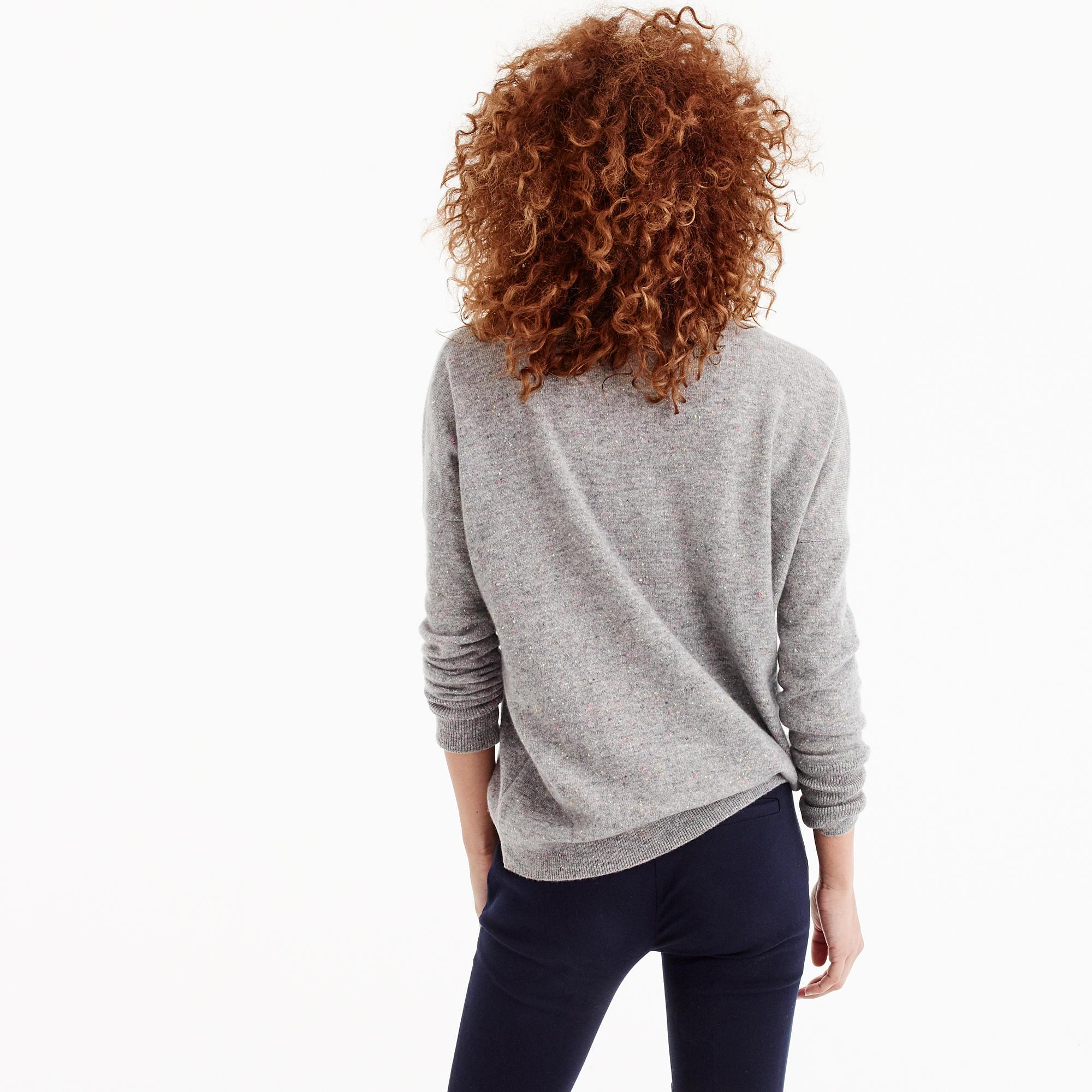 d449f7ec000a J.Crew V-neck Boyfriend Sweater In Donegal Everyday Cashmere in Gray ...