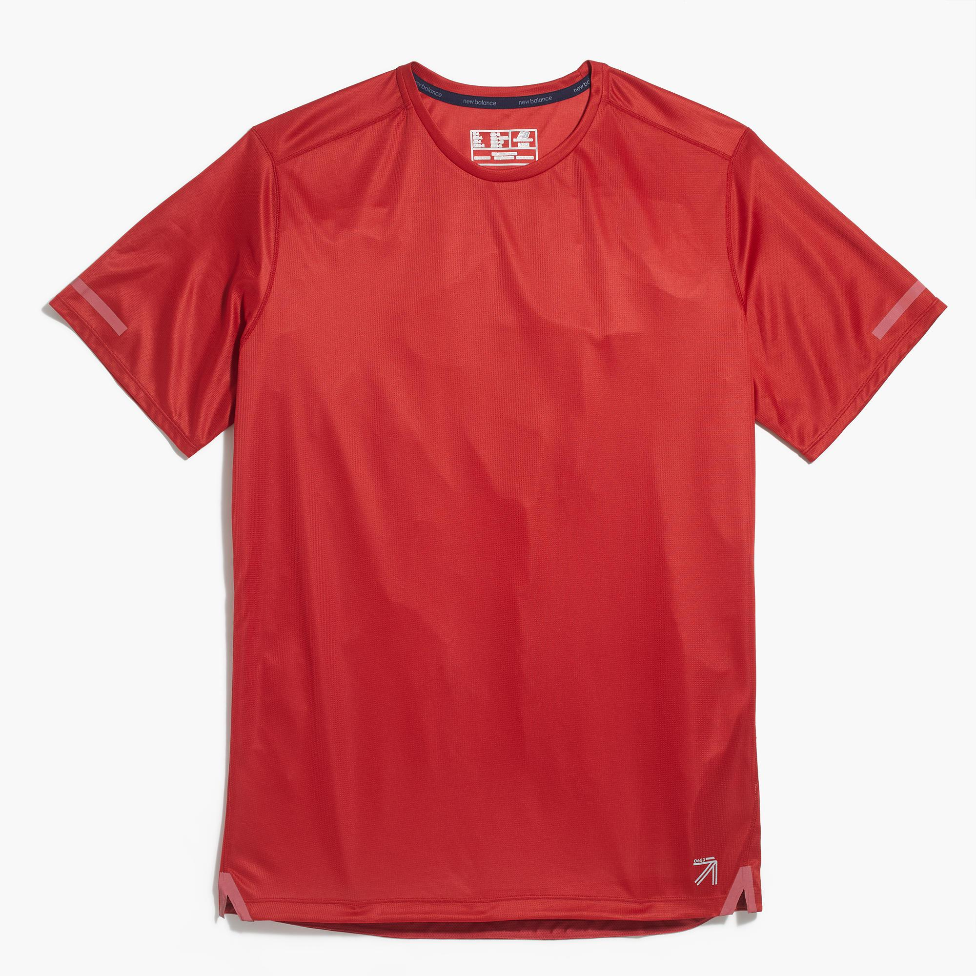 Lyst J Crew New Balance Cooling Workout T Shirt In Red