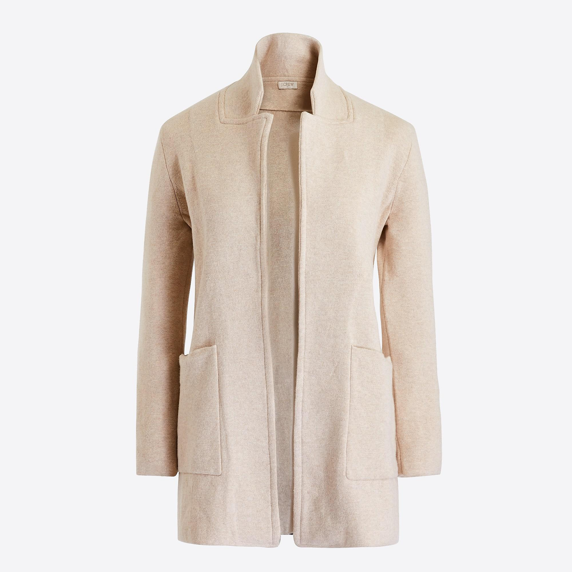 6f115d8c568 J.Crew Open-front Sweater Blazer in Natural - Lyst