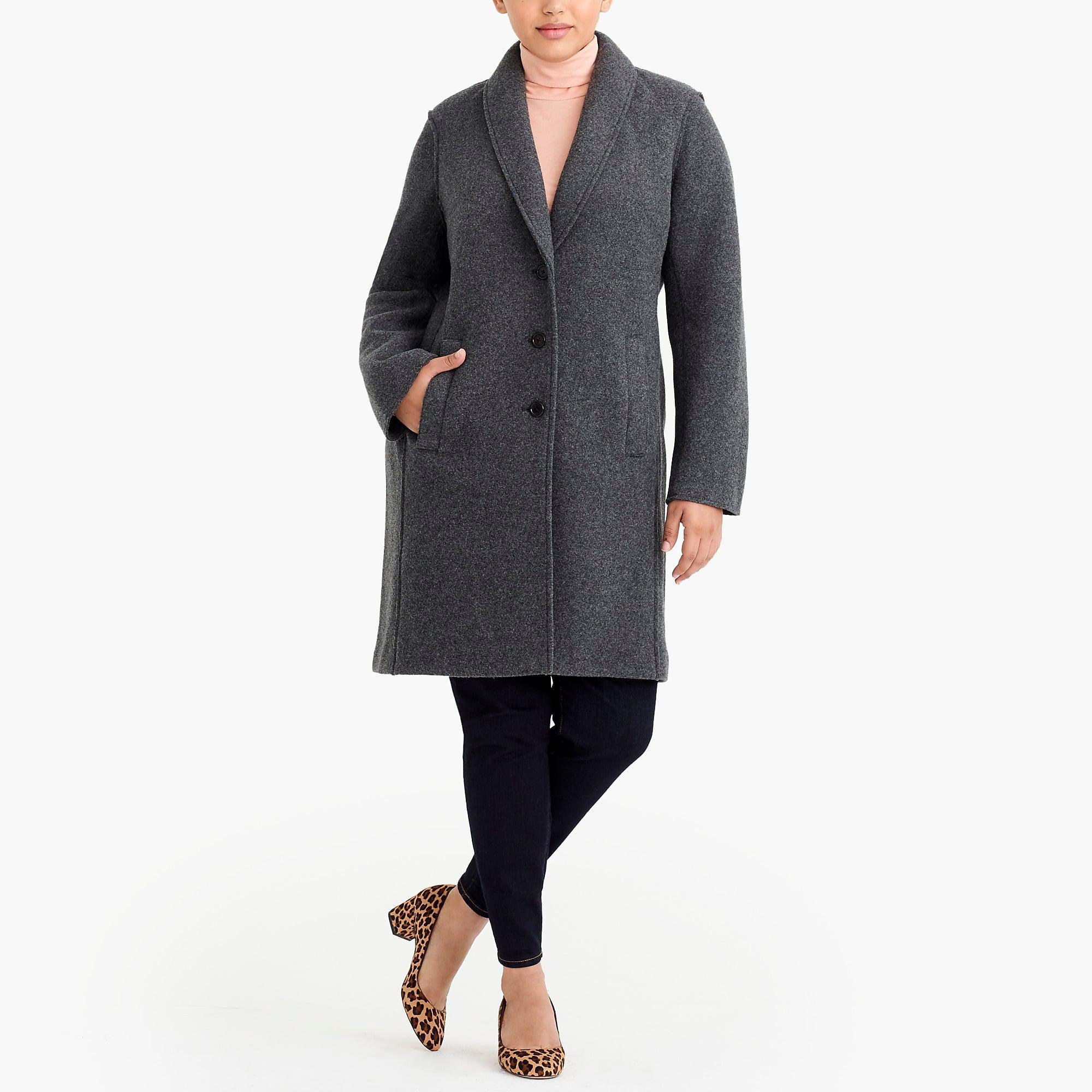 36487b06d21 Lyst - J.Crew Boiled Wool Topcoat in Black