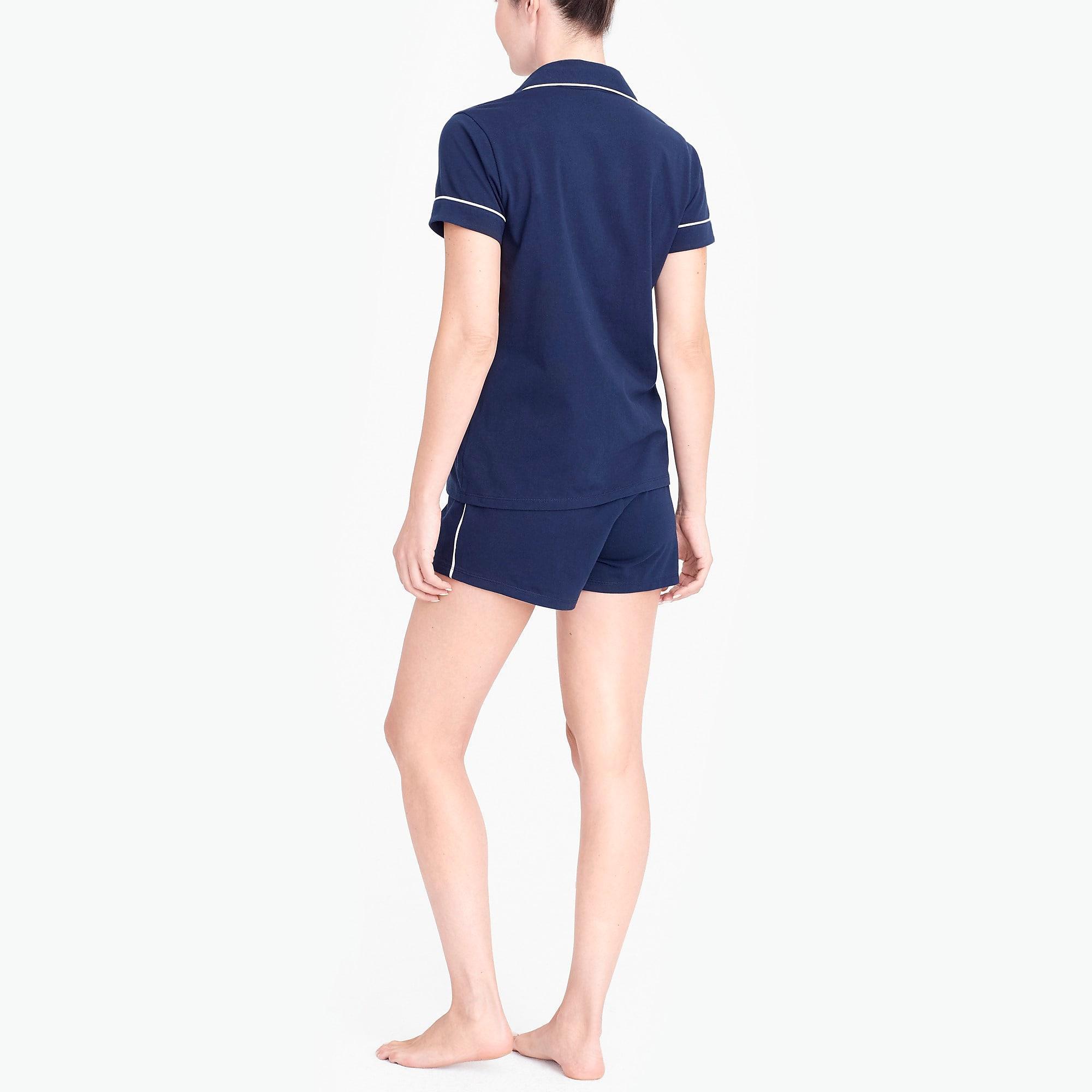 J.Crew - Blue Knit Pajama Short Set - Lyst. View fullscreen a1031e9ee