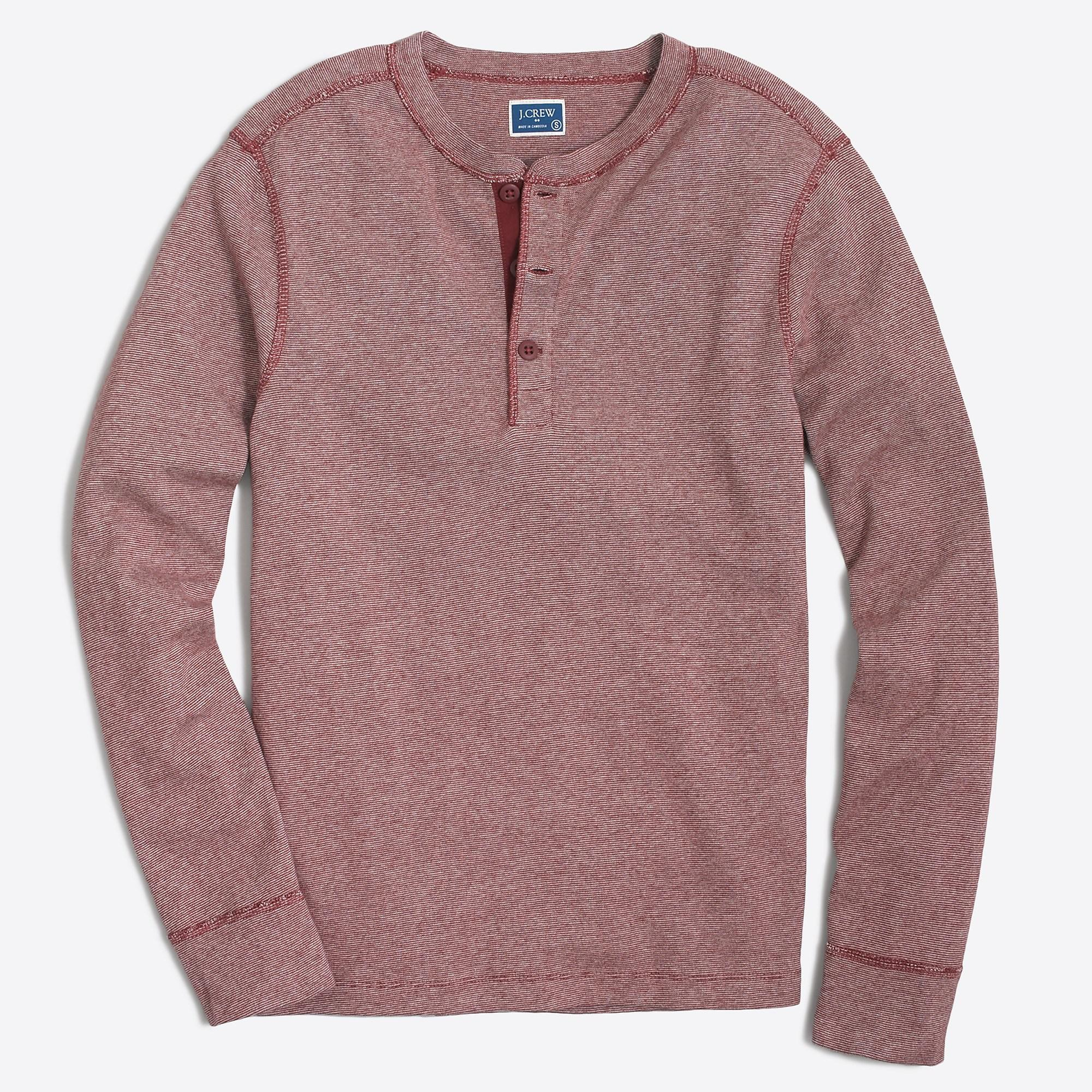 092a0f36 Lyst - J.Crew Twisted Rib Henley in Purple for Men