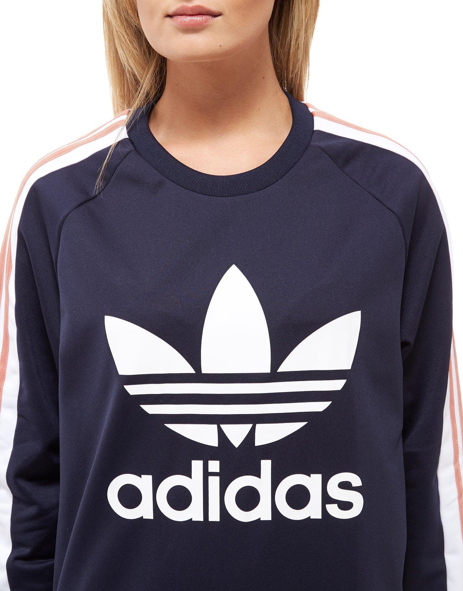 Lyst adidas Originals 3 Stripes grupo Crew sudadera en azul