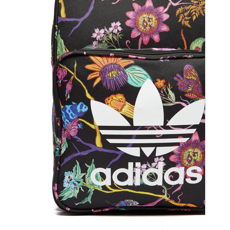 550a13bd2c0 adidas Originals Classic Print Backpack in Black - Lyst