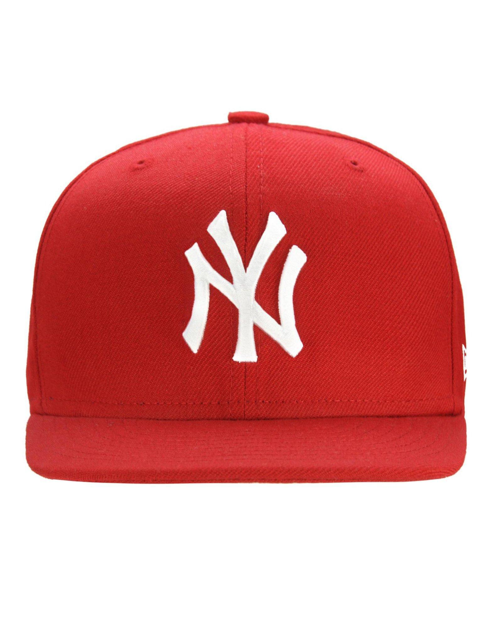 9996cdbd7a3 Lyst - KTZ Mlb New York Yankees 59fifty Fitted Cap in Red for Men