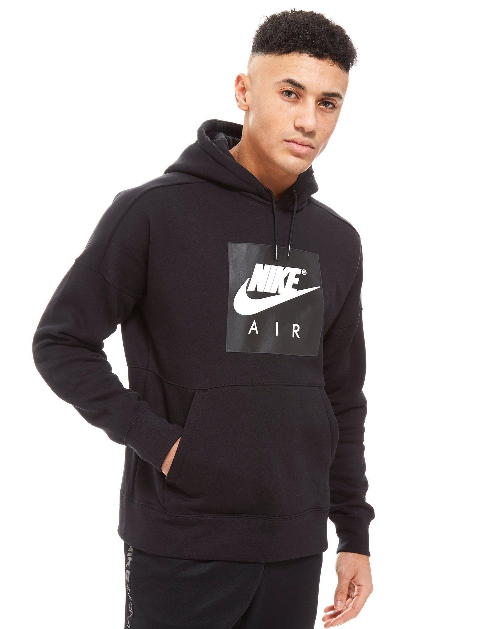 42b7c6e05a52b7 Lyst - Nike Air Overhead Colourblock Hoodie in Black for Men