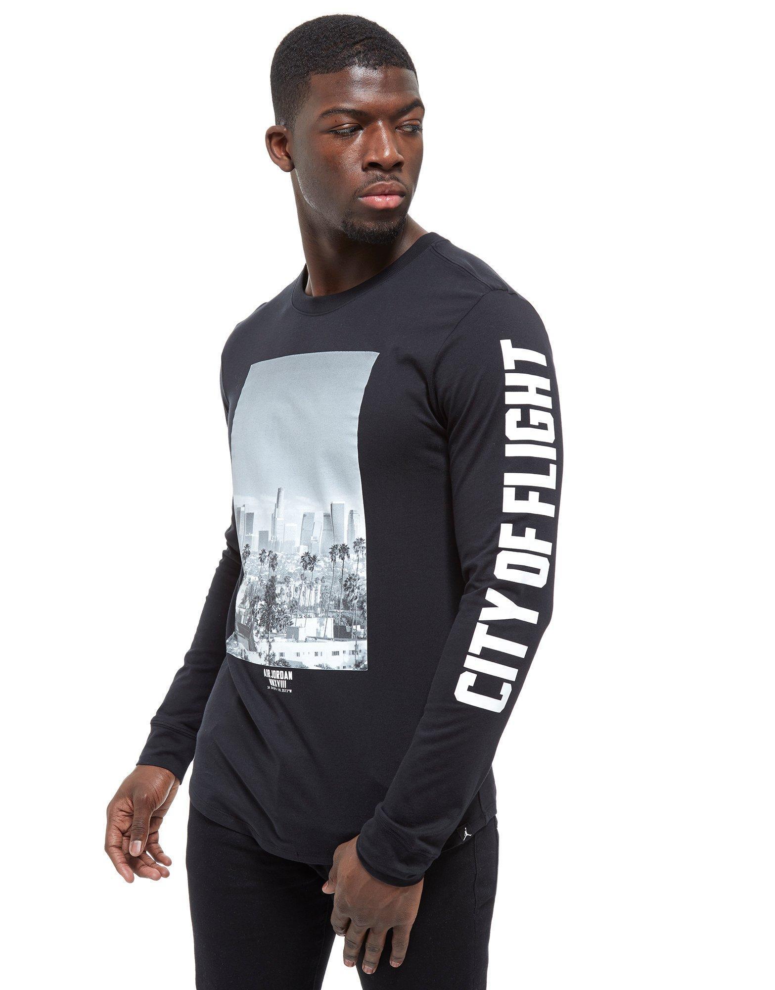 e707fe932e340e Nike Long Sleeve City Of Flight Photo T-shirt in Black for Men - Lyst