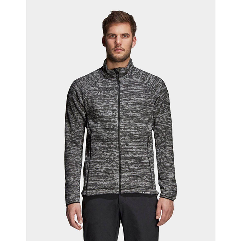 39c80cd539e Lyst - adidas Knit Fleece Jacket in Gray for Men