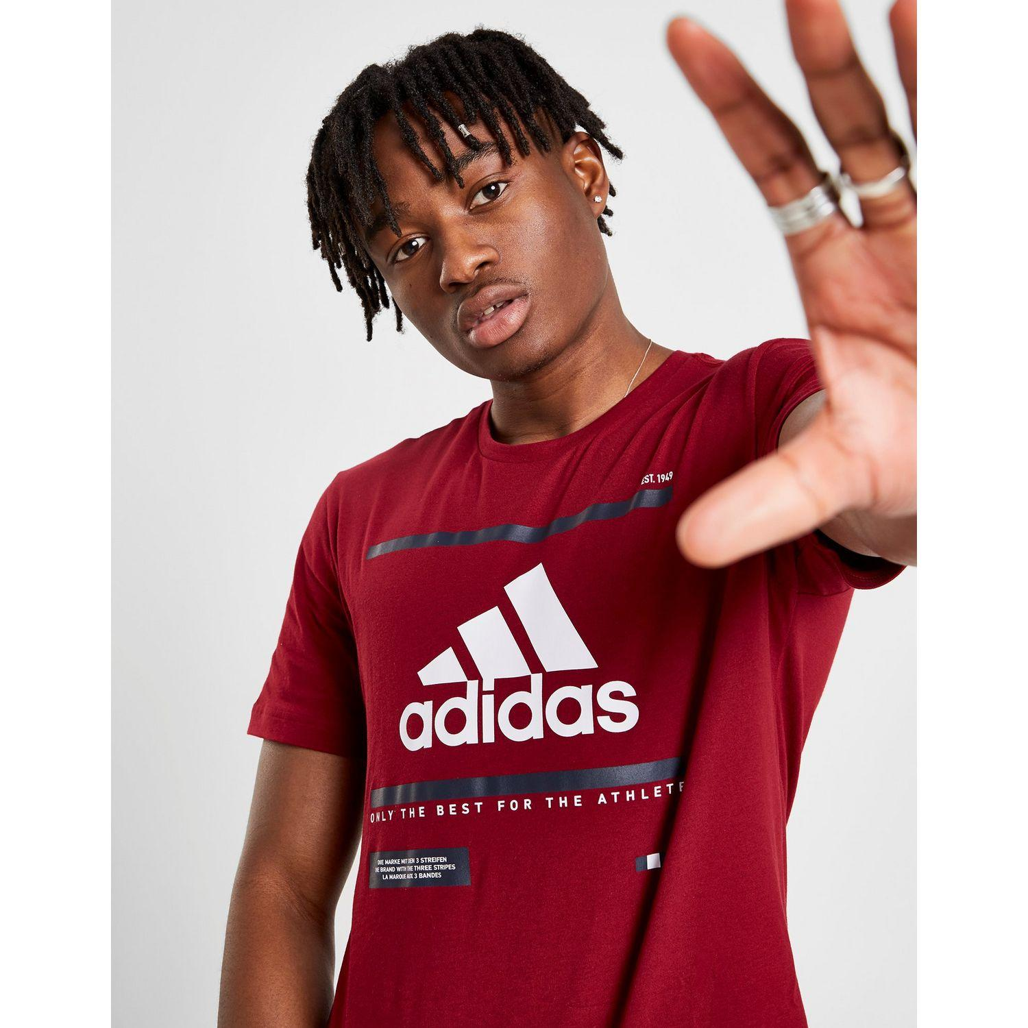 f6a4340bf1 adidas Badge Of Sport Box T-shirt in Red for Men - Lyst