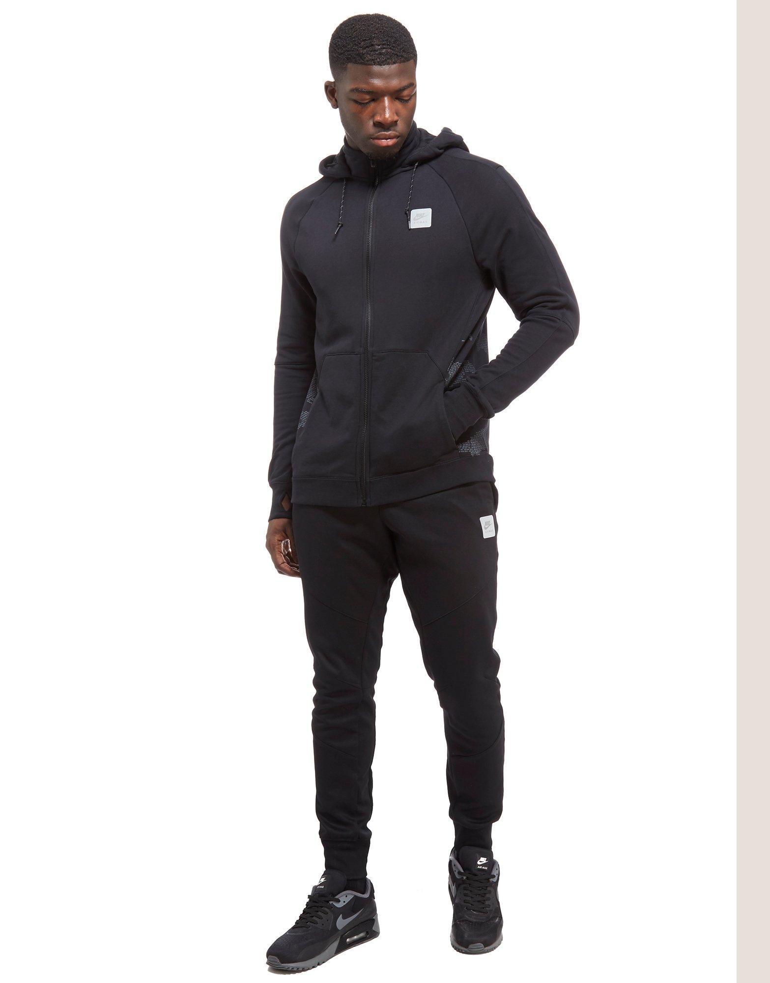 Men's Black Air Max Ft Full Zip Hoodie