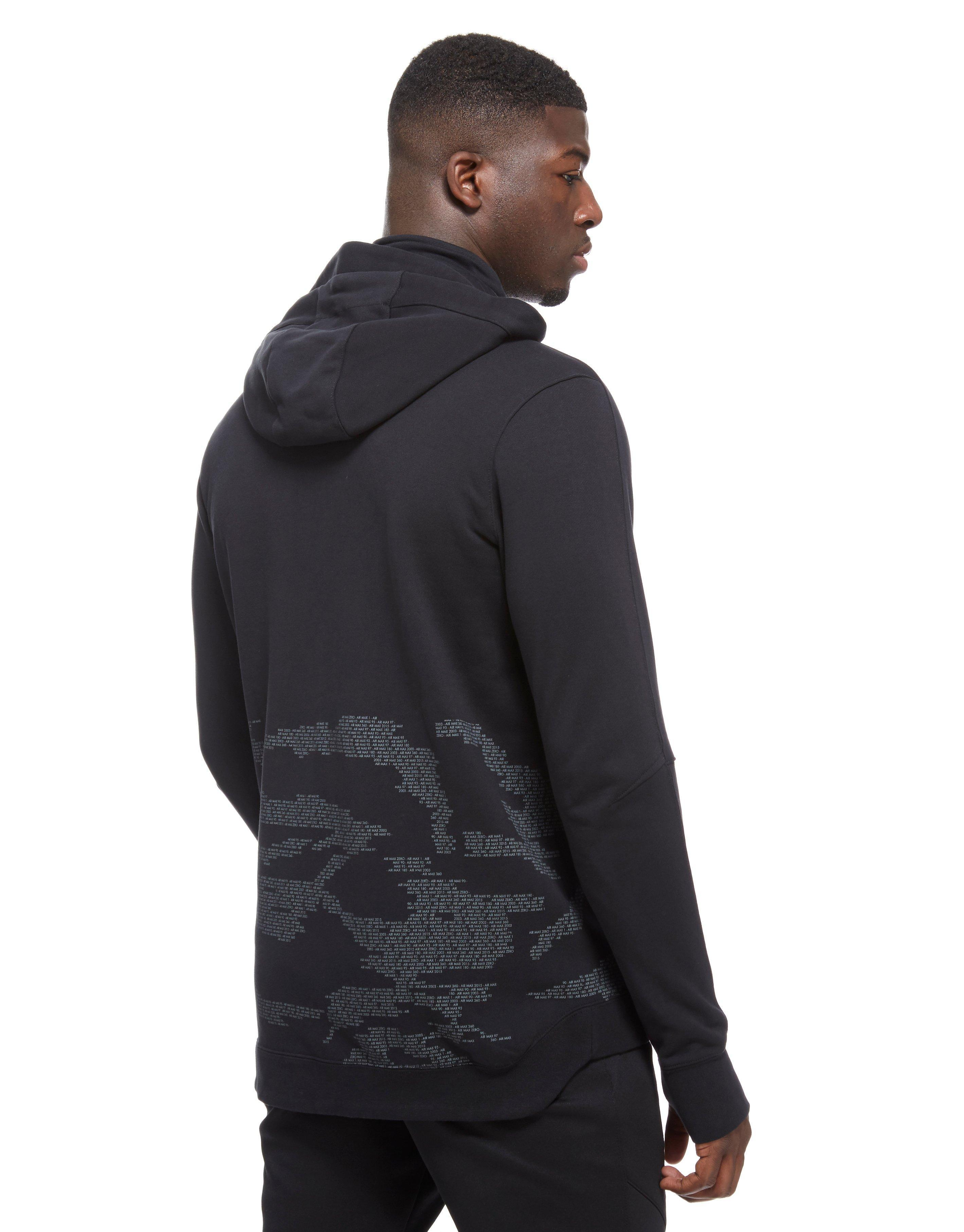 ... switzerland lyst nike air max ft full zip hoody in black for men d539b  99a93 a88e13ad2