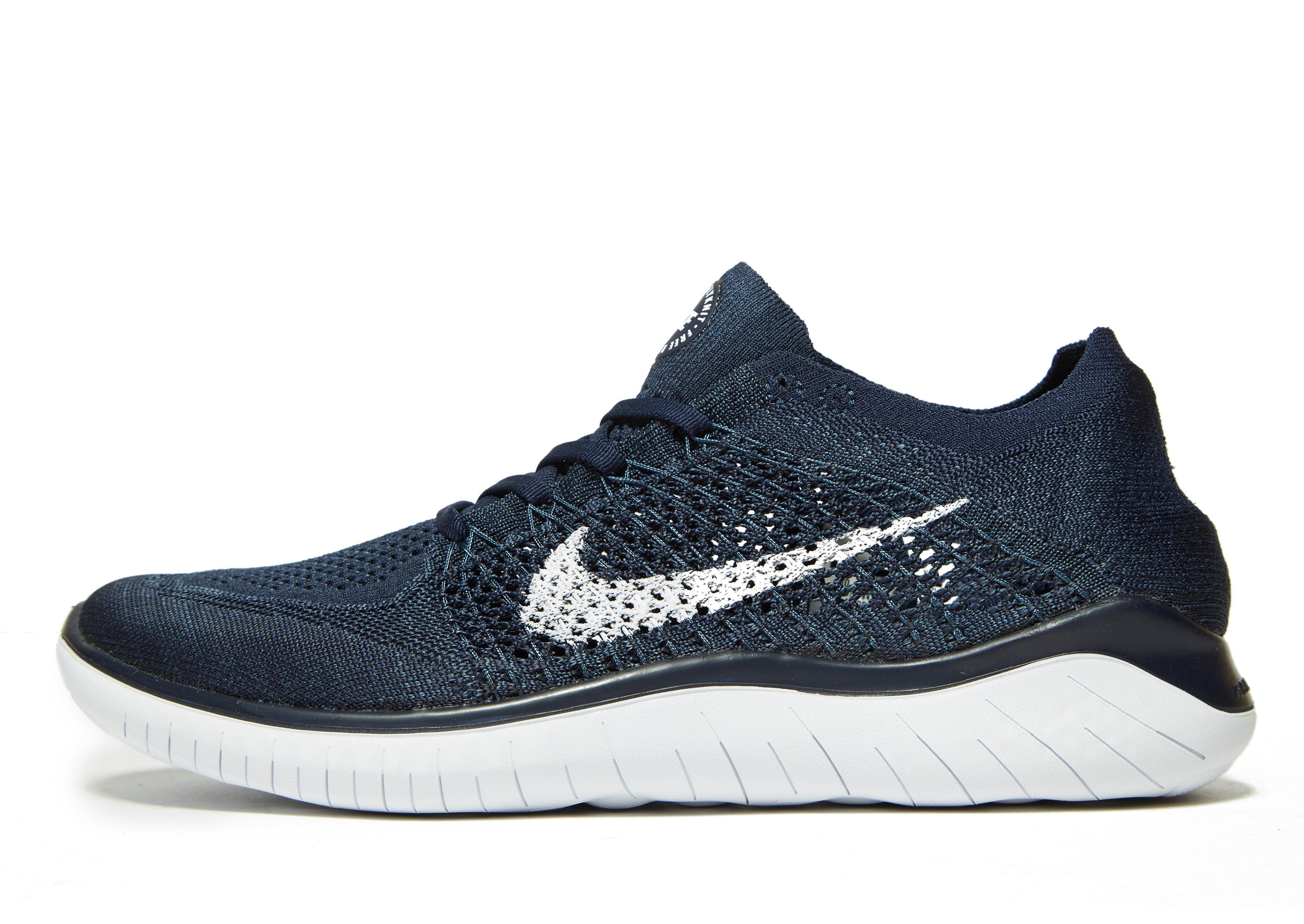 Nike. Men's Blue Free Rn Flyknit