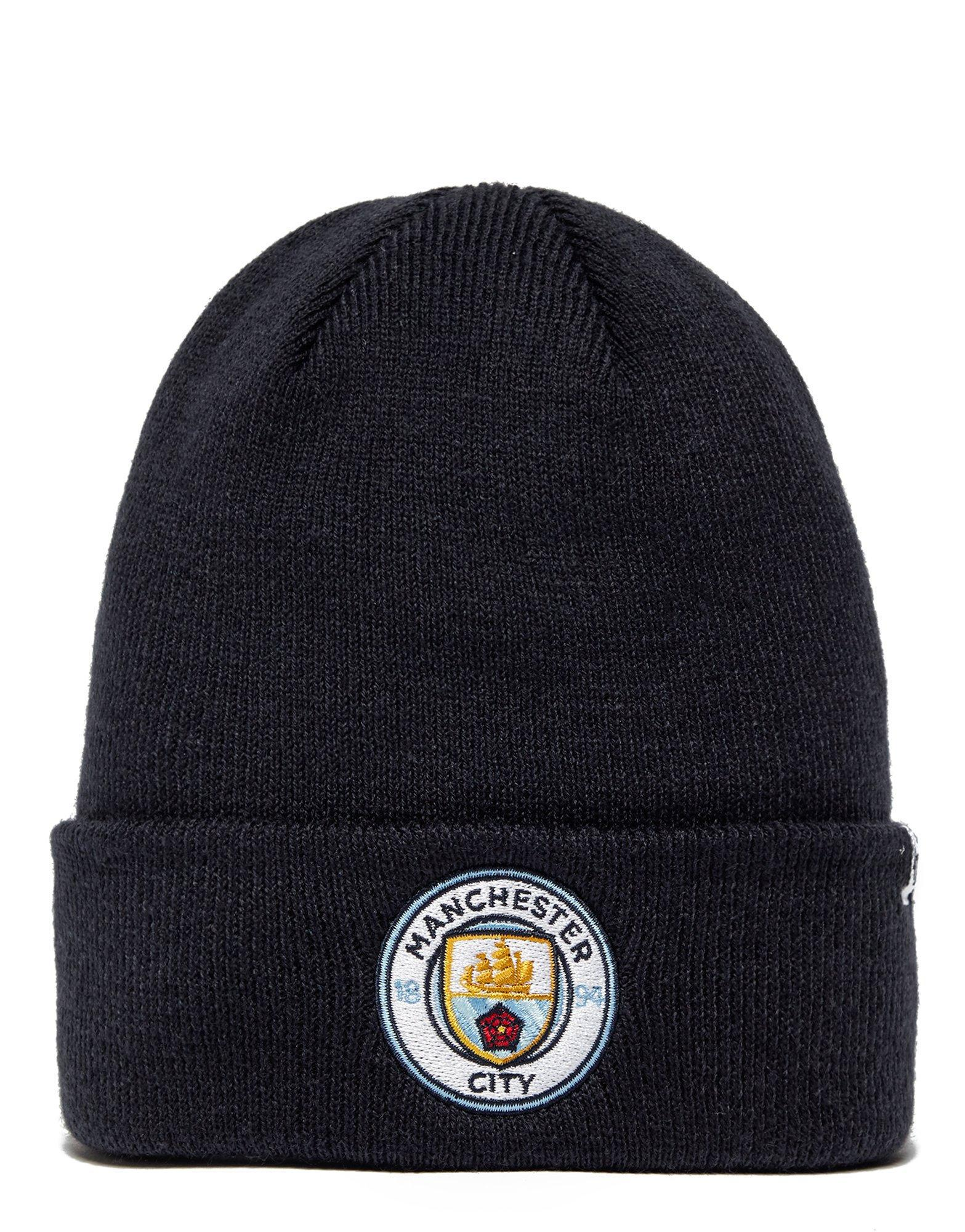 5550ad4497a44 47 Brand Manchester City Fc Cuffed Beanie Hat in Blue - Lyst