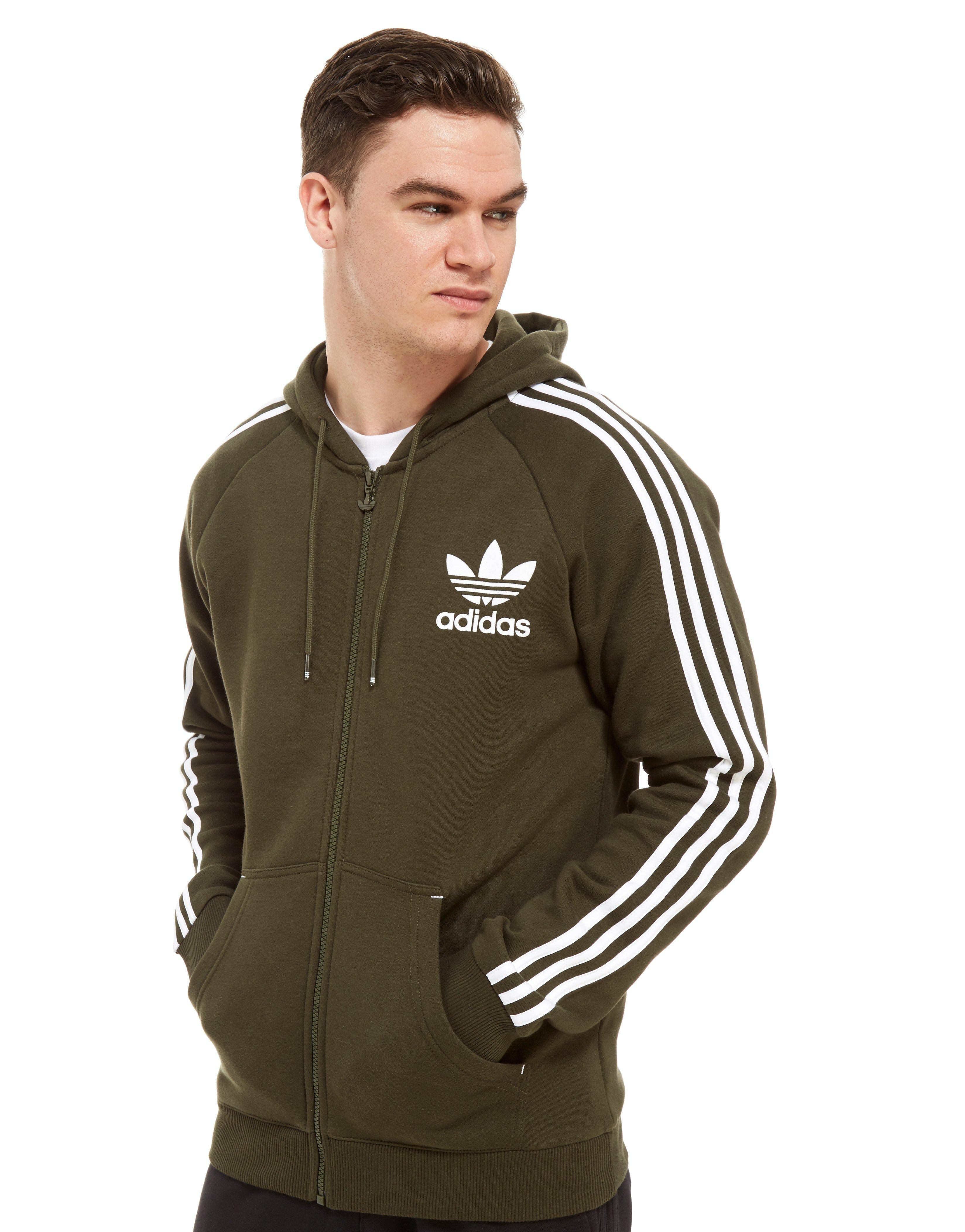 88b95d253935 adidas Originals California Full Zip Hoodie in Green for Men - Lyst