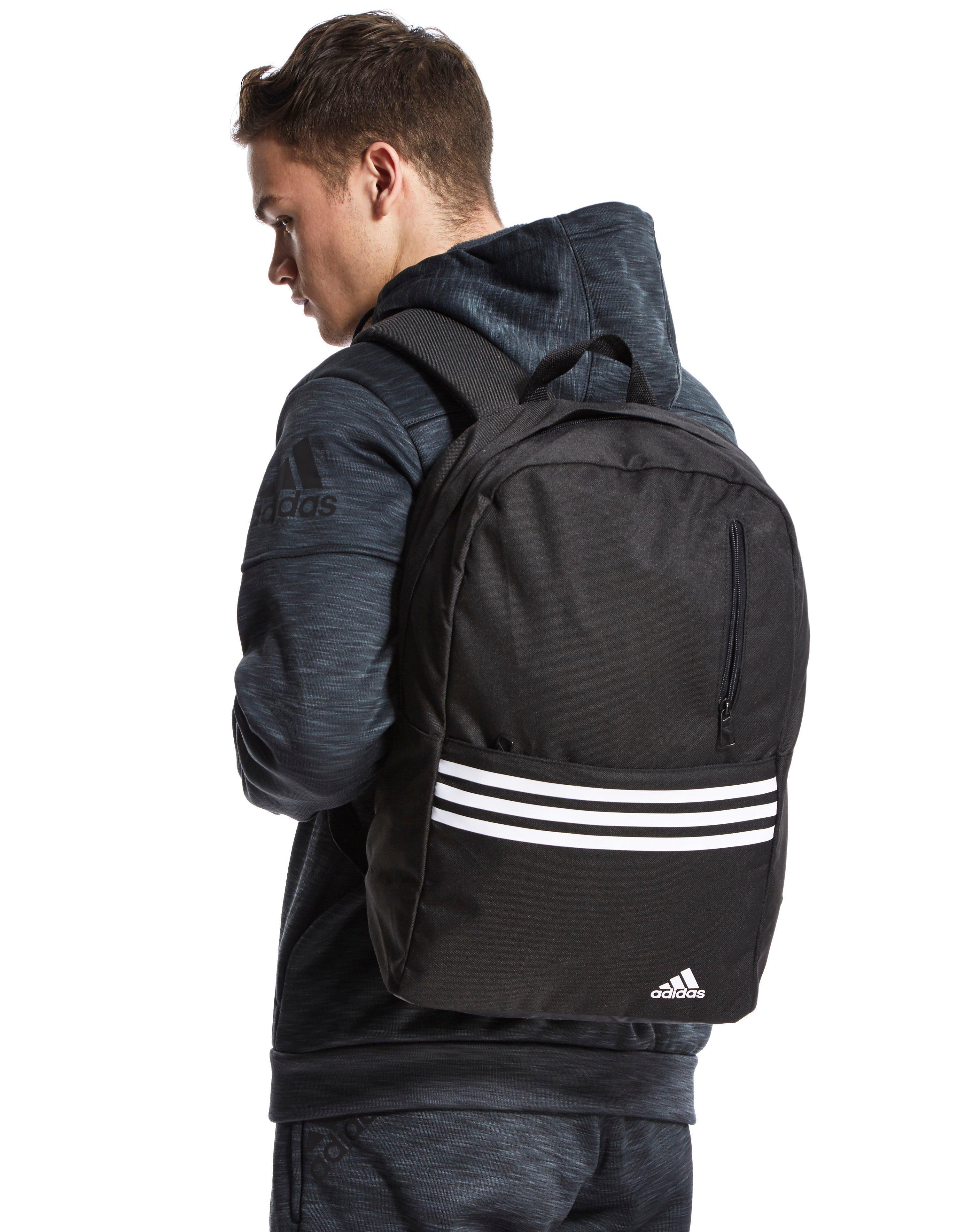 fa294928f5 adidas Originals Versatile 3-stripes Backpack in Black for Men - Lyst