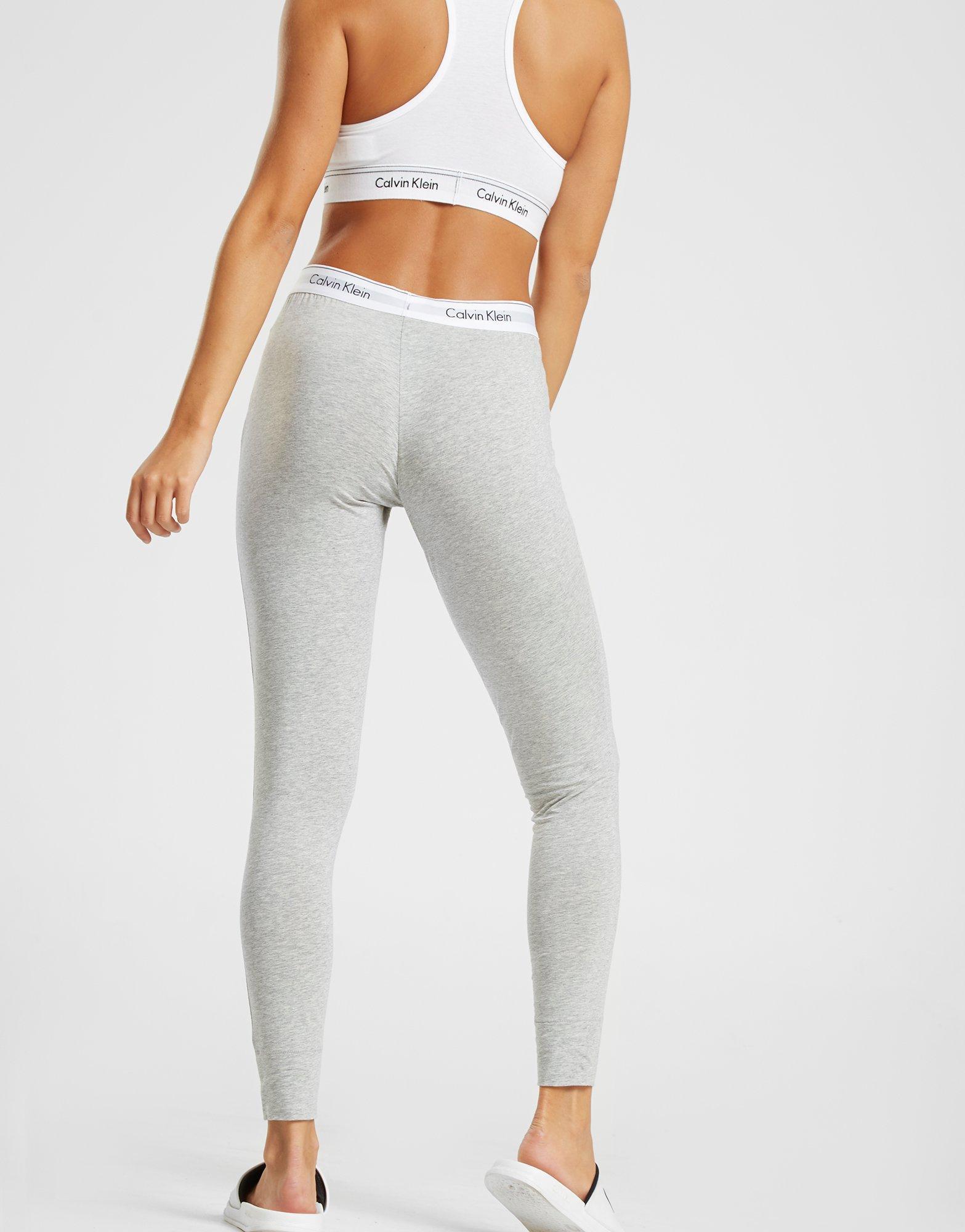 d31601d3de Lyst - Calvin Klein Modern Cotton Leggings in Gray