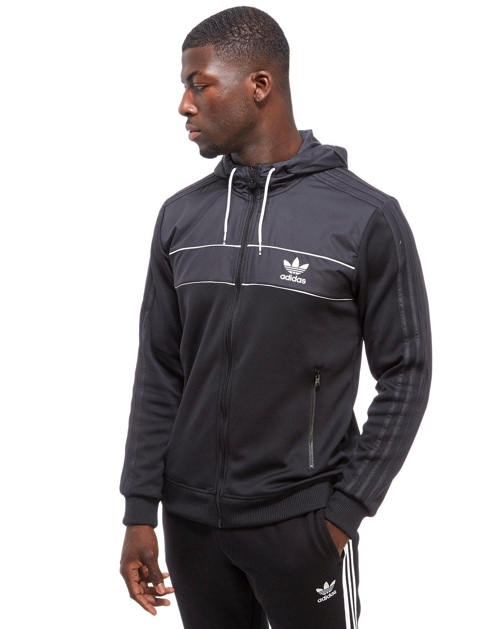 Adidas Originals Country Full Zip Hoody In Black For Men Lyst