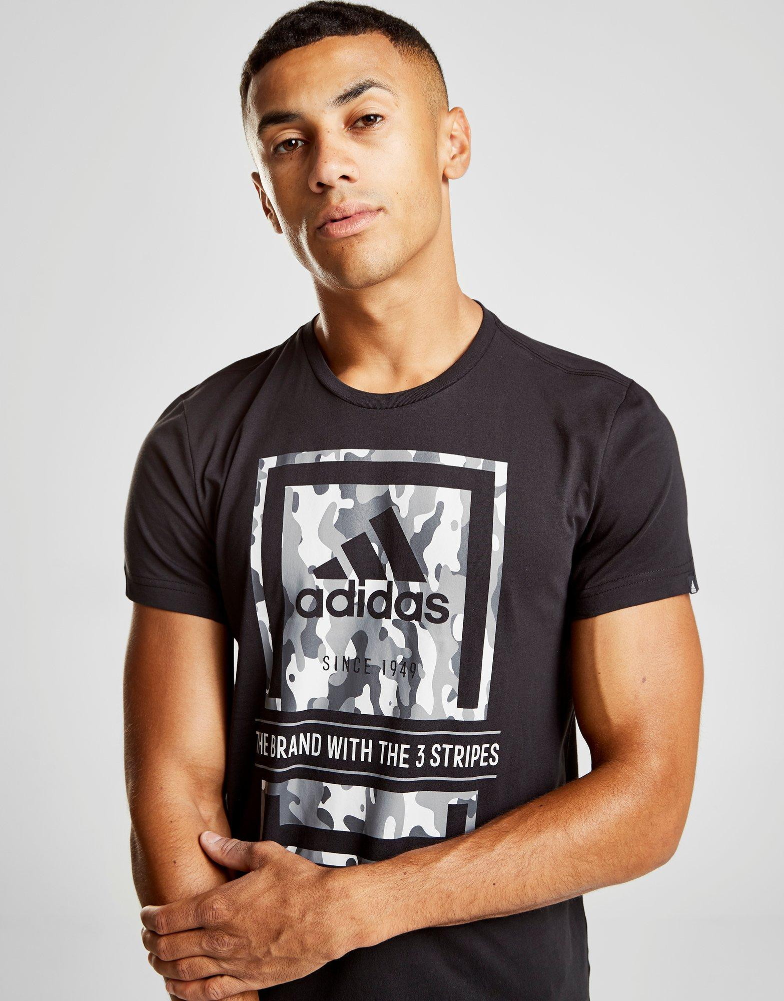 the best attitude 04fc9 40668 Lyst - Adidas Camo Box T-shirt in Black for Men