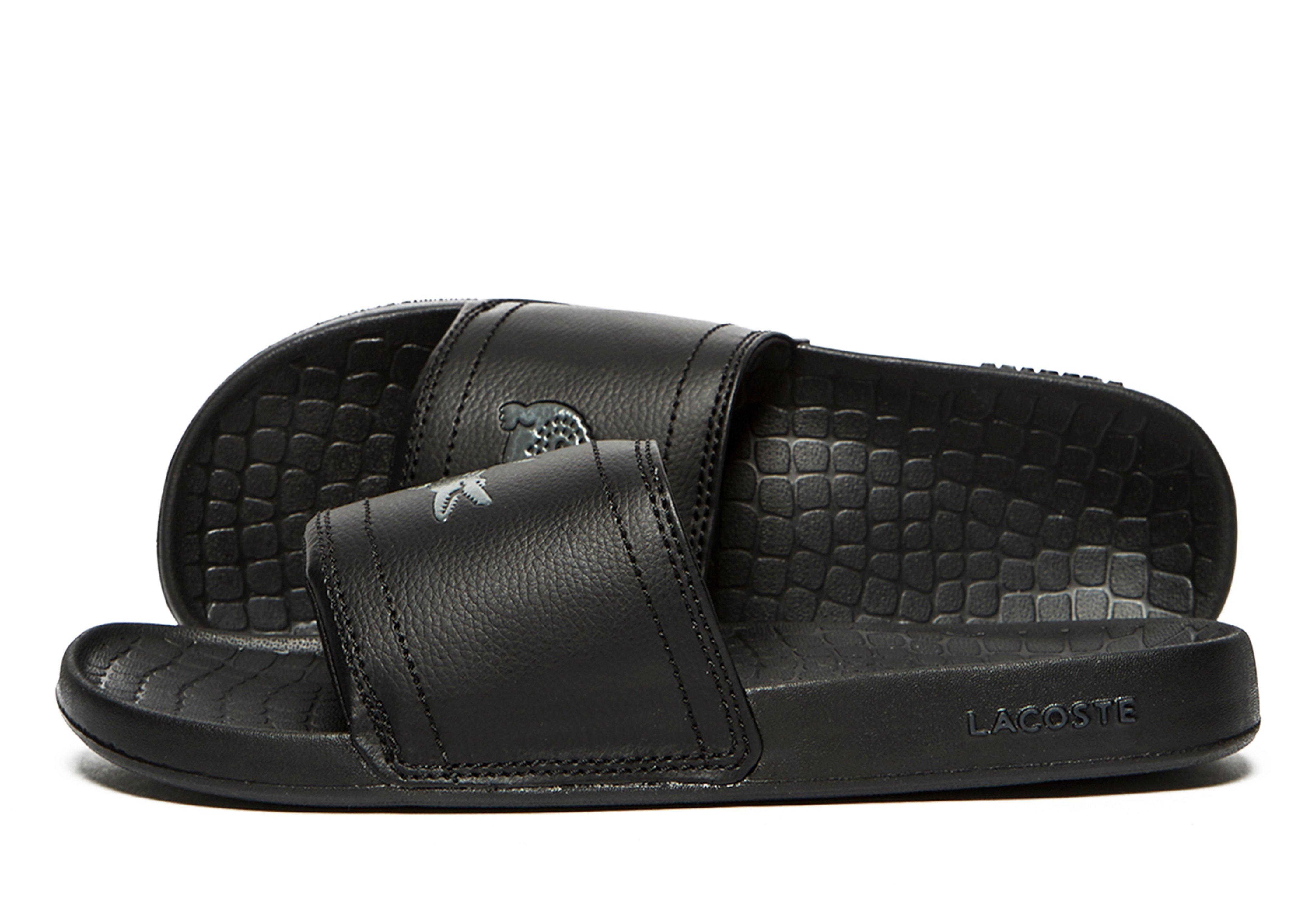 50176958ca7e Lacoste - Black Frasier Slide for Men - Lyst. View fullscreen