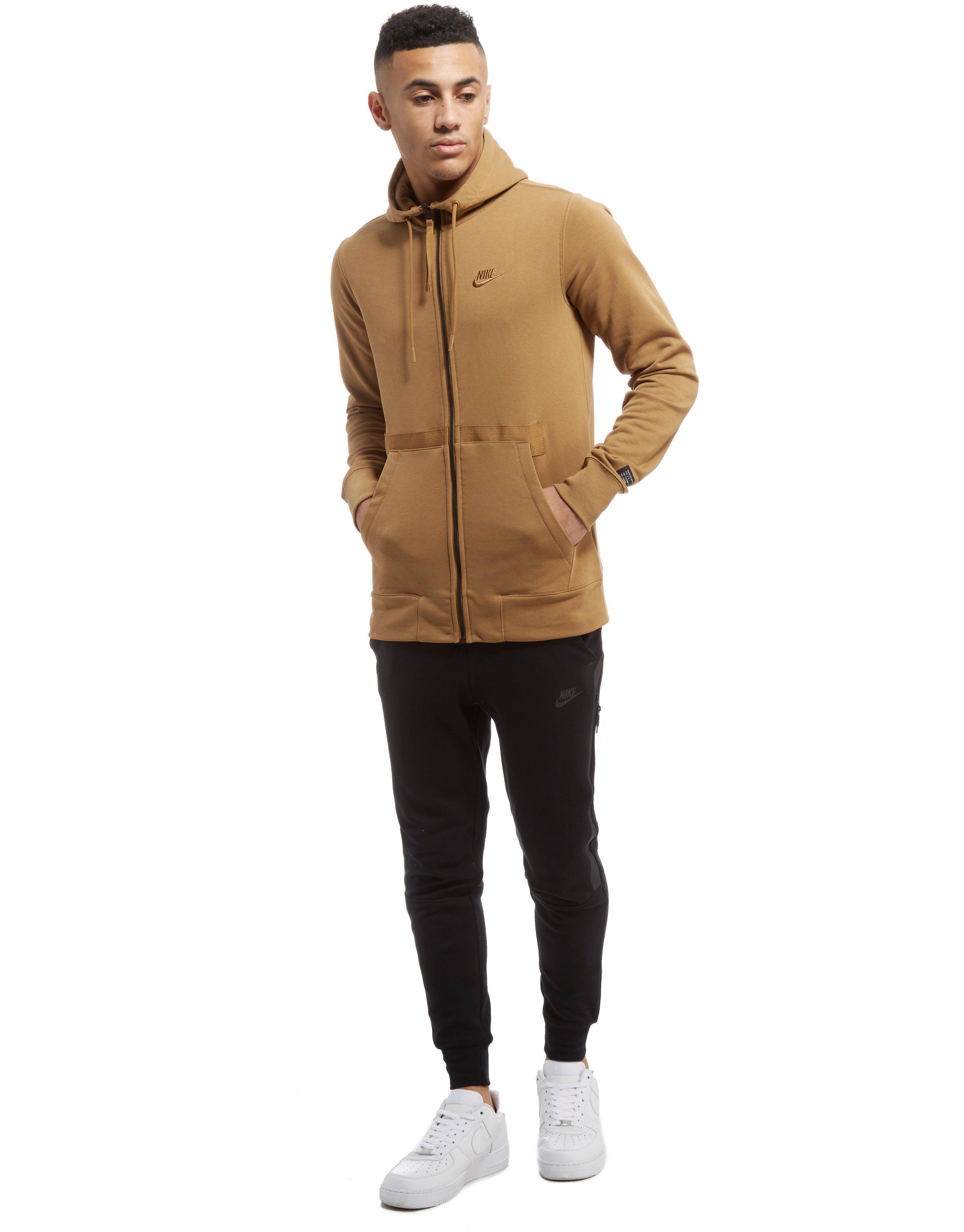 abf62b14f1 Lyst - Nike Air Force 1 Full Zip Hoodie in Brown for Men