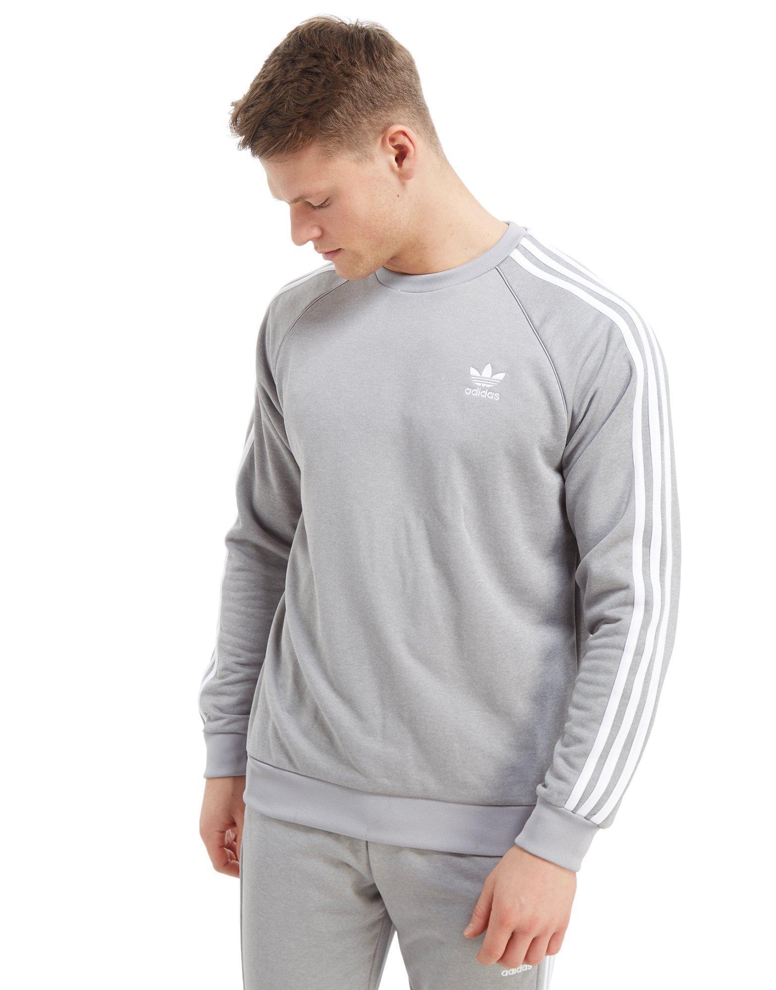 19c91acd38bc Lyst - adidas Originals Superstar Crew Sweatshirt in Gray for Men